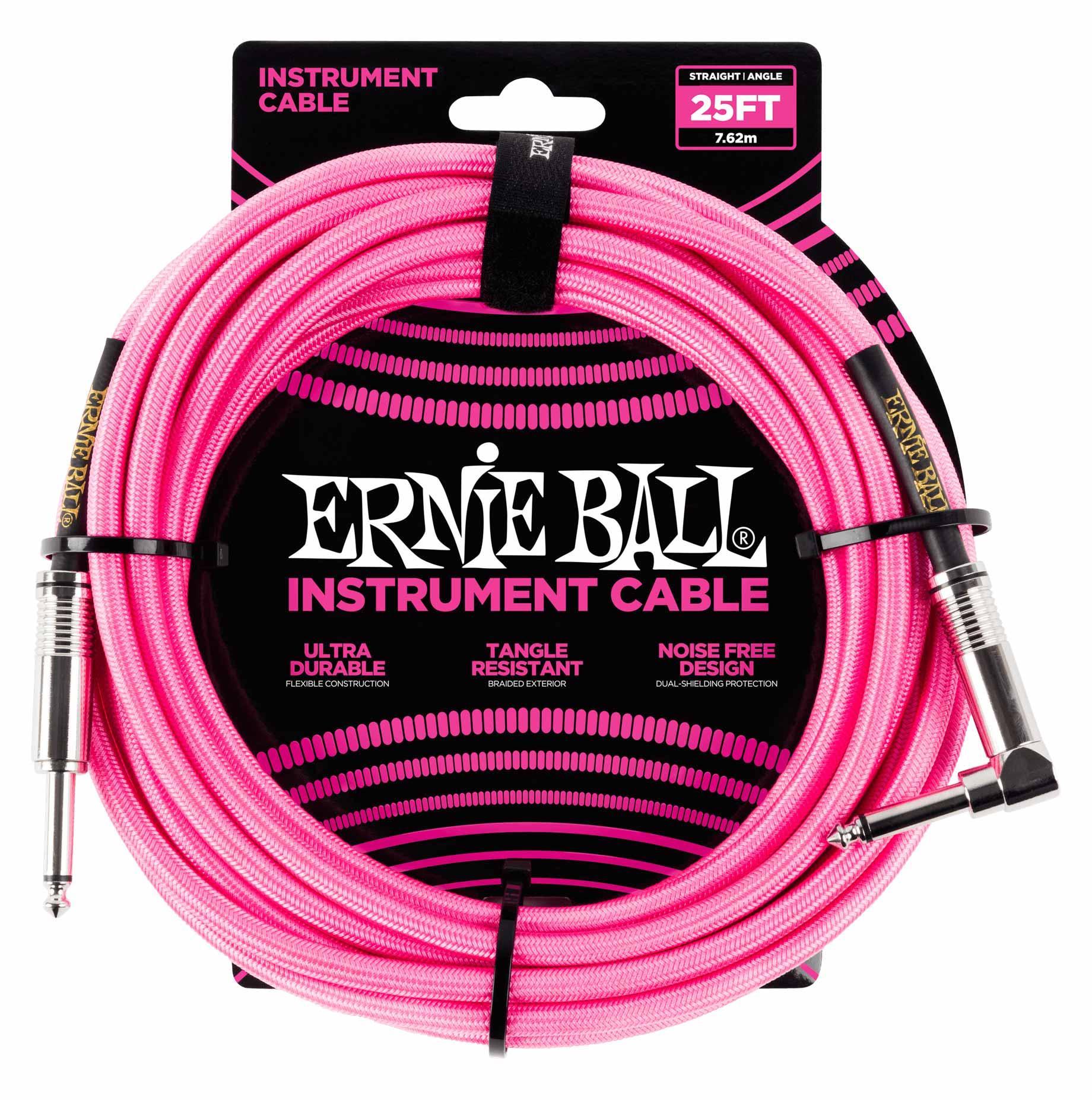 Ernie Ball 6065 Instrumentenkabel 7,62 m Neon Pink