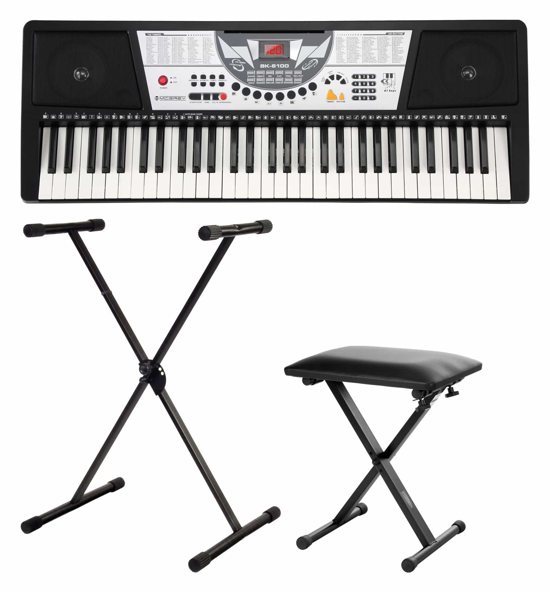 McGrey BK 6100 Keyboard SET inkl. Ständer und Bank