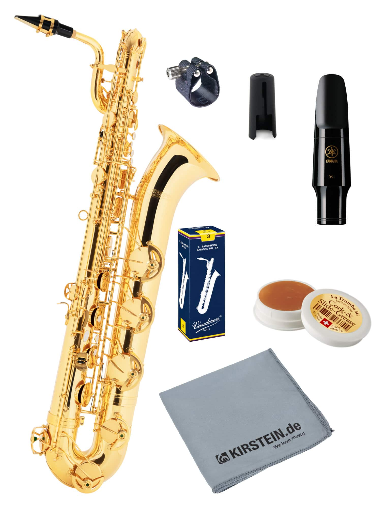 Saxophone - Classic Cantabile BS 460 Baritonsaxophon Deluxe Set - Onlineshop Musikhaus Kirstein