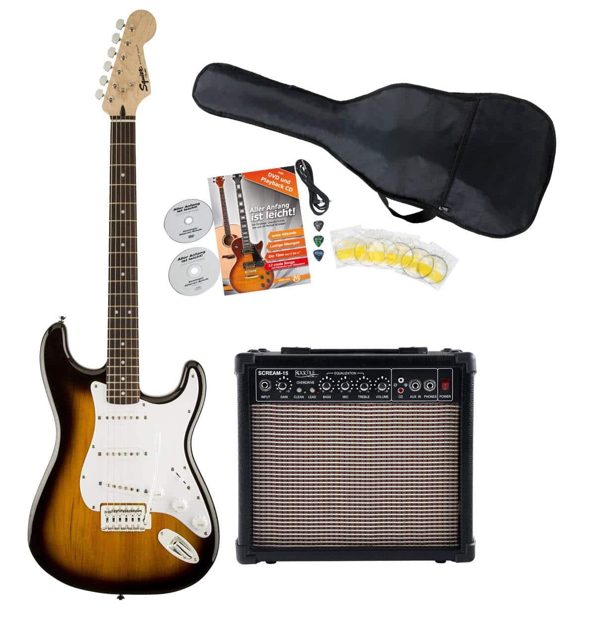 Egitarren - Fender Squier Bullet Strat IL BSB Starter Set - Onlineshop Musikhaus Kirstein