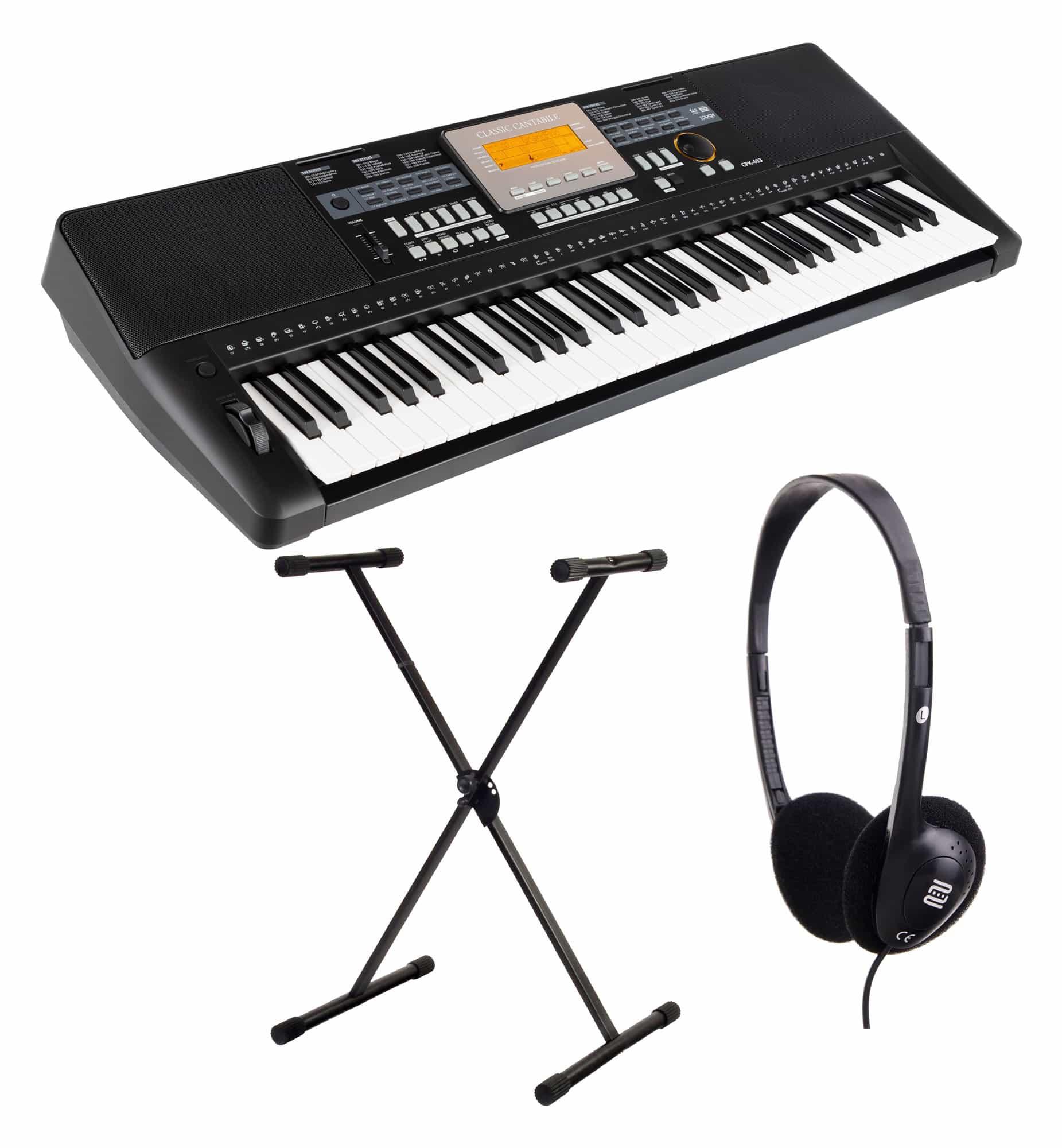 Homekeyboards - Classic Cantabile CPK 403 Keyboard inkl. Ständer und Kopfhörer - Onlineshop Musikhaus Kirstein