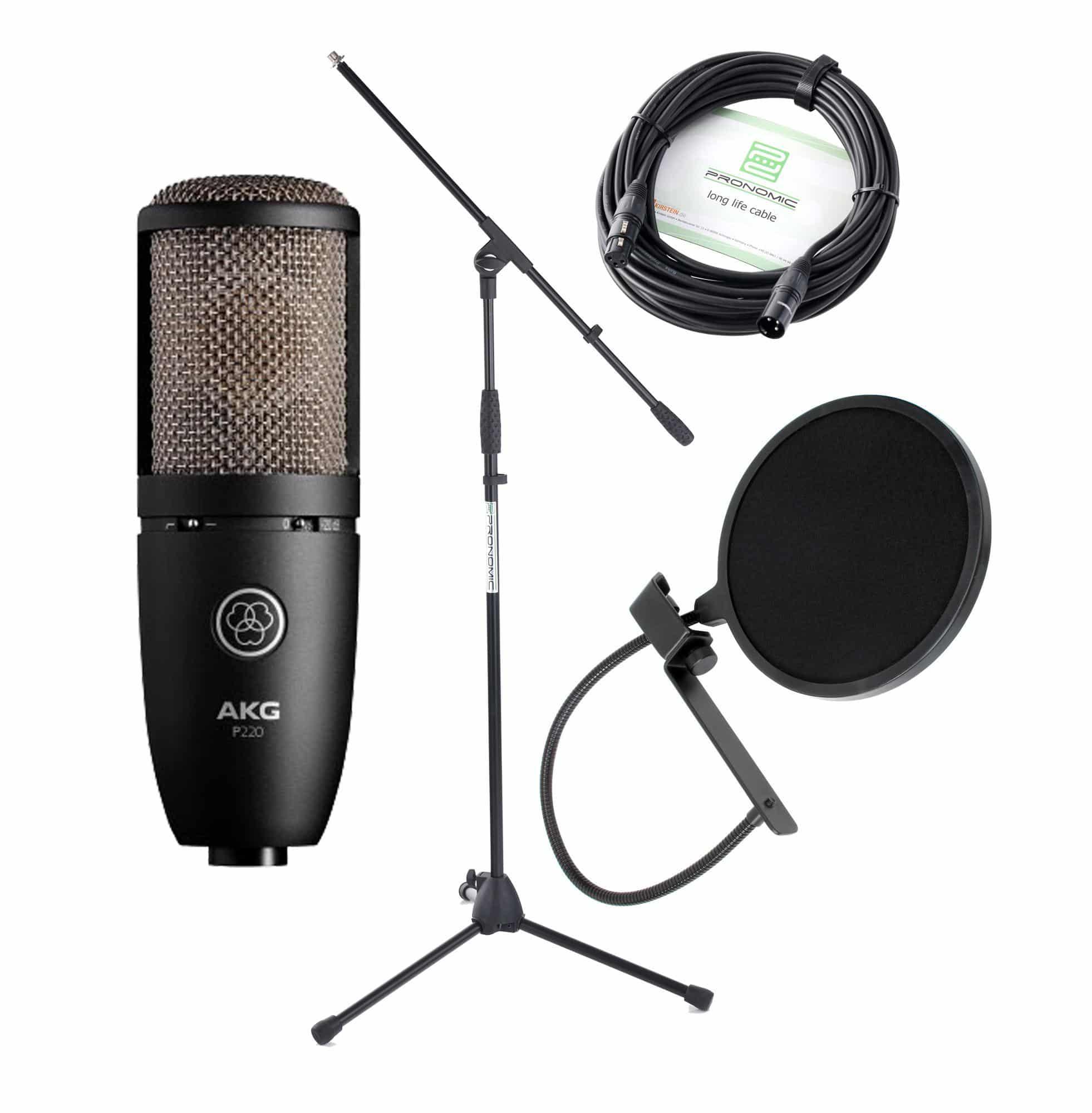 Mikrofone - AKG P 220 Großmembran Mikrofon SET - Onlineshop Musikhaus Kirstein