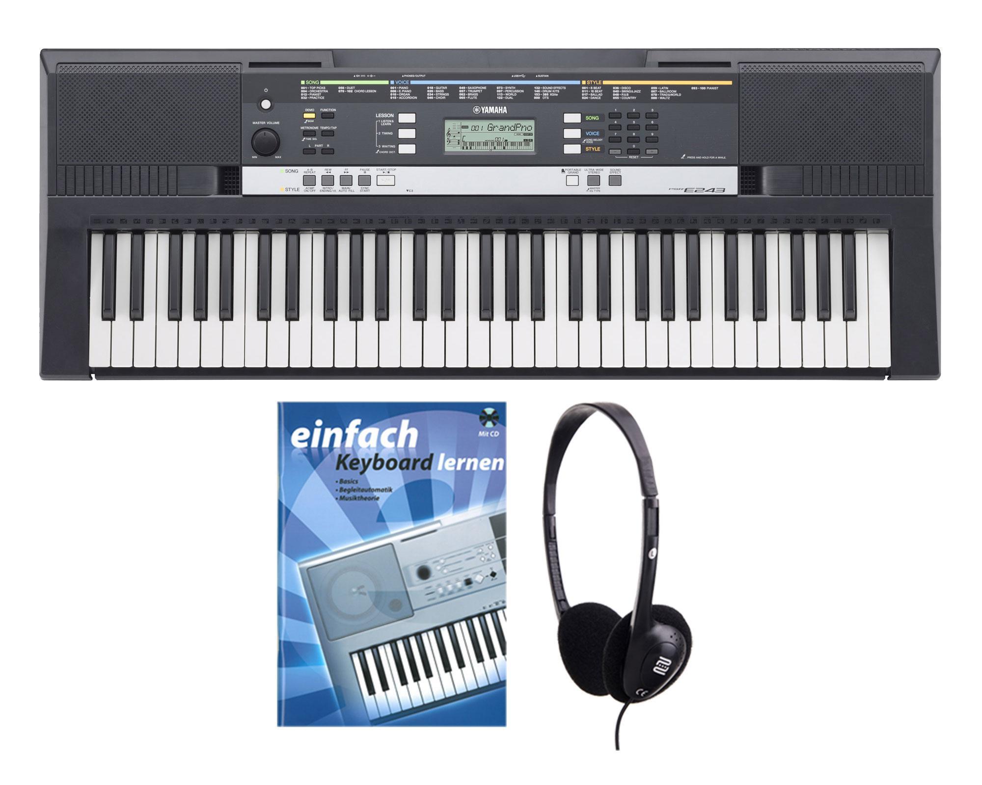 Yamaha PSR E243 Keyboard SET inkl. Kopfhörer Schule