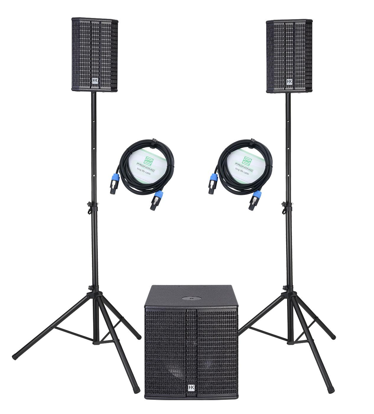Boxenkomplettanlagen - HK Audio Lucas 2K15 System Aktivanlage Set inkl. Stative und Kabel - Onlineshop Musikhaus Kirstein