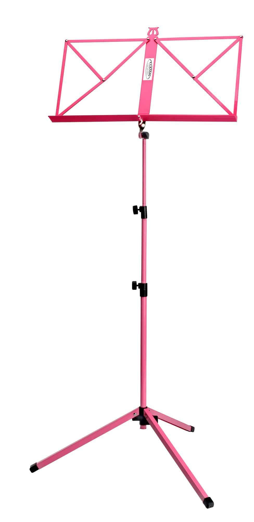 Classic Cantabile 100 Notenständer mittelschwer Pink