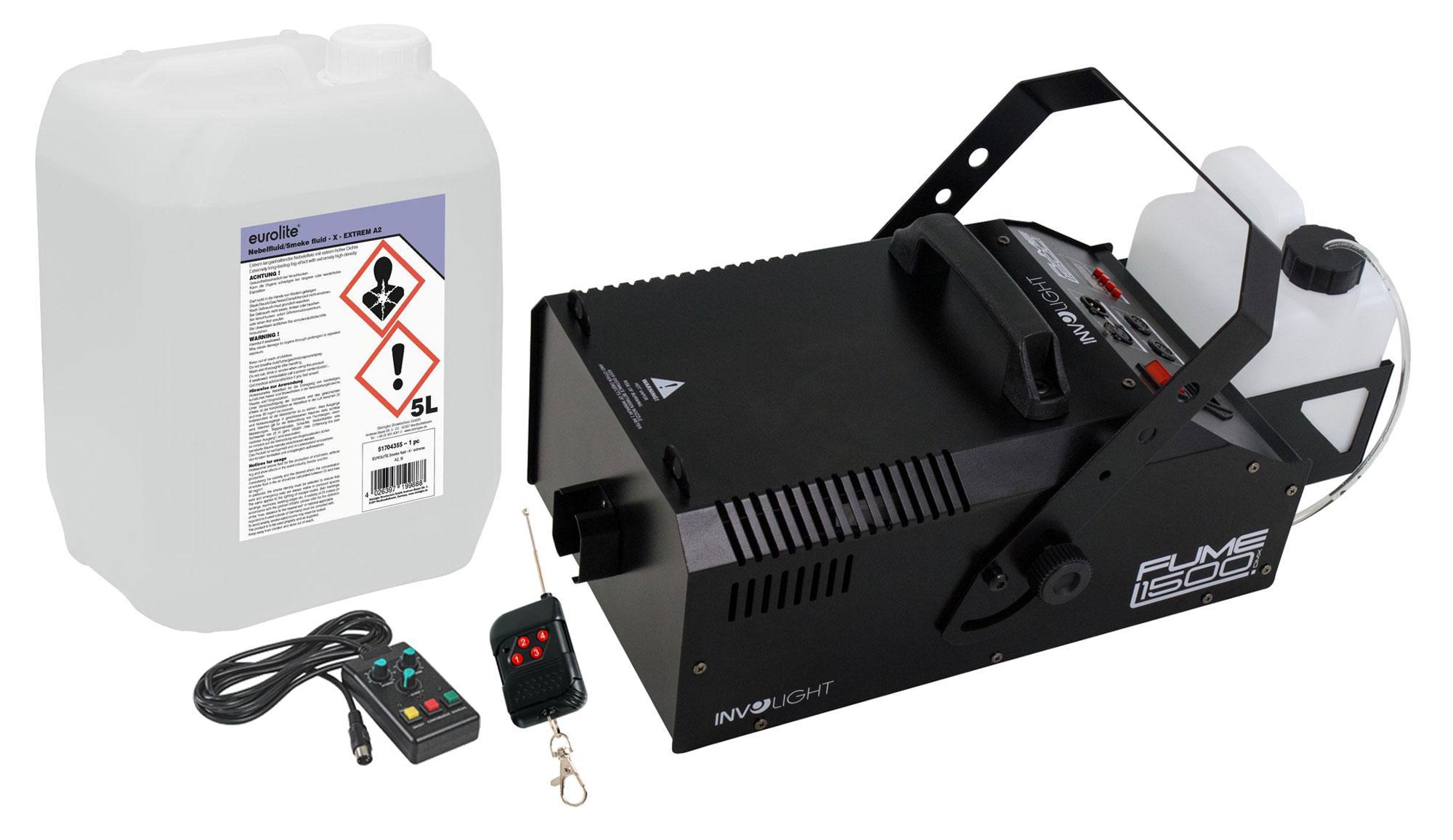Nebeleffekte - Involight Fume 1500 DMX Nebelmaschinen Feuerwehr Set - Onlineshop Musikhaus Kirstein