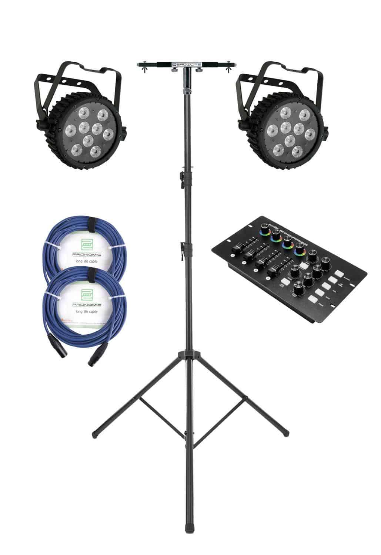 Lichtsets - Involight Silent Dual LED Scheinwerfer Easy Operator Set - Onlineshop Musikhaus Kirstein