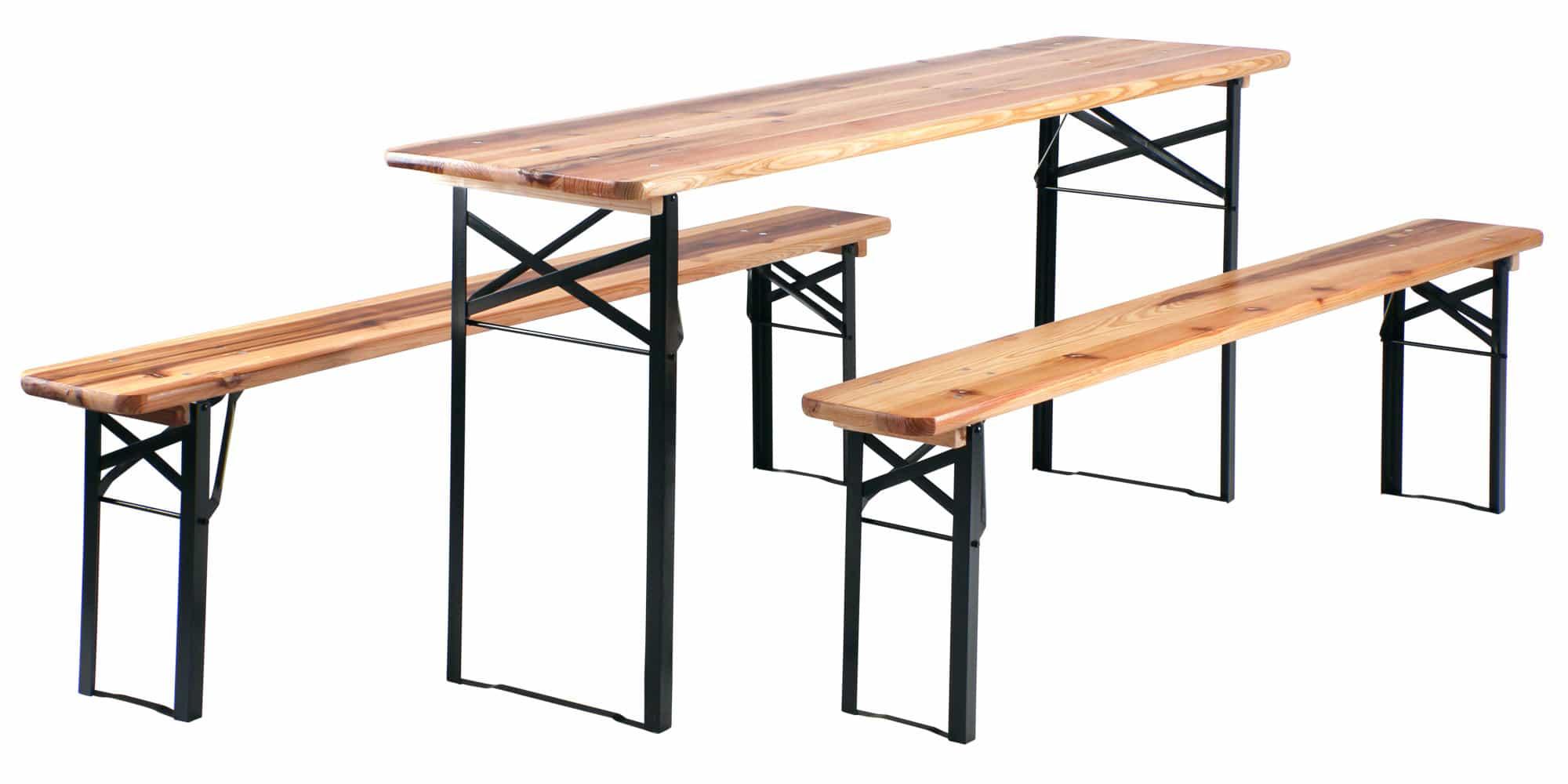 Stagecaptain Hirschgarten Bierzeltgarnitur 2 x Bank und Tisch, Länge 177 cm