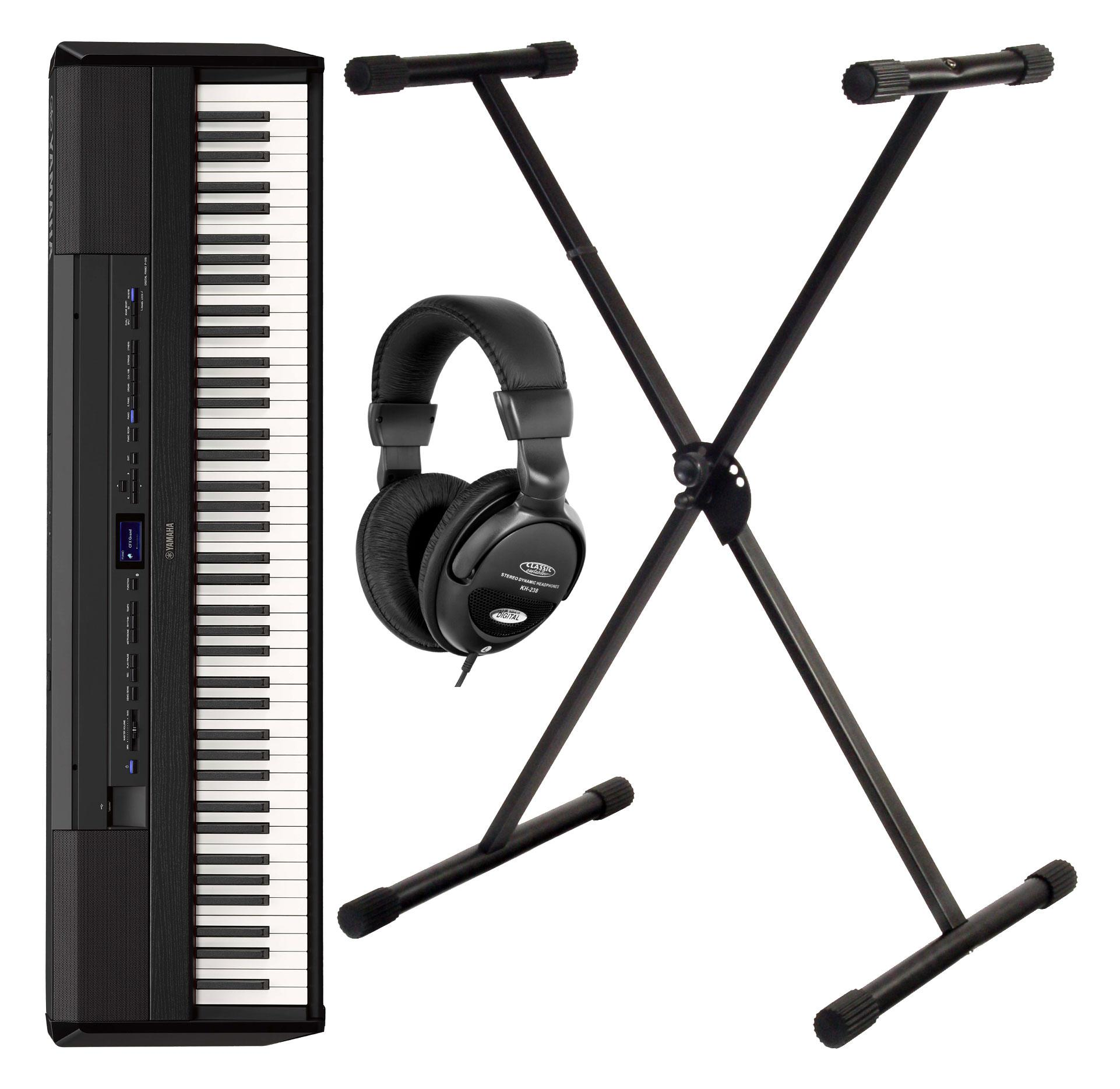 Yamaha P 515B Stage Piano schwarz Road Set