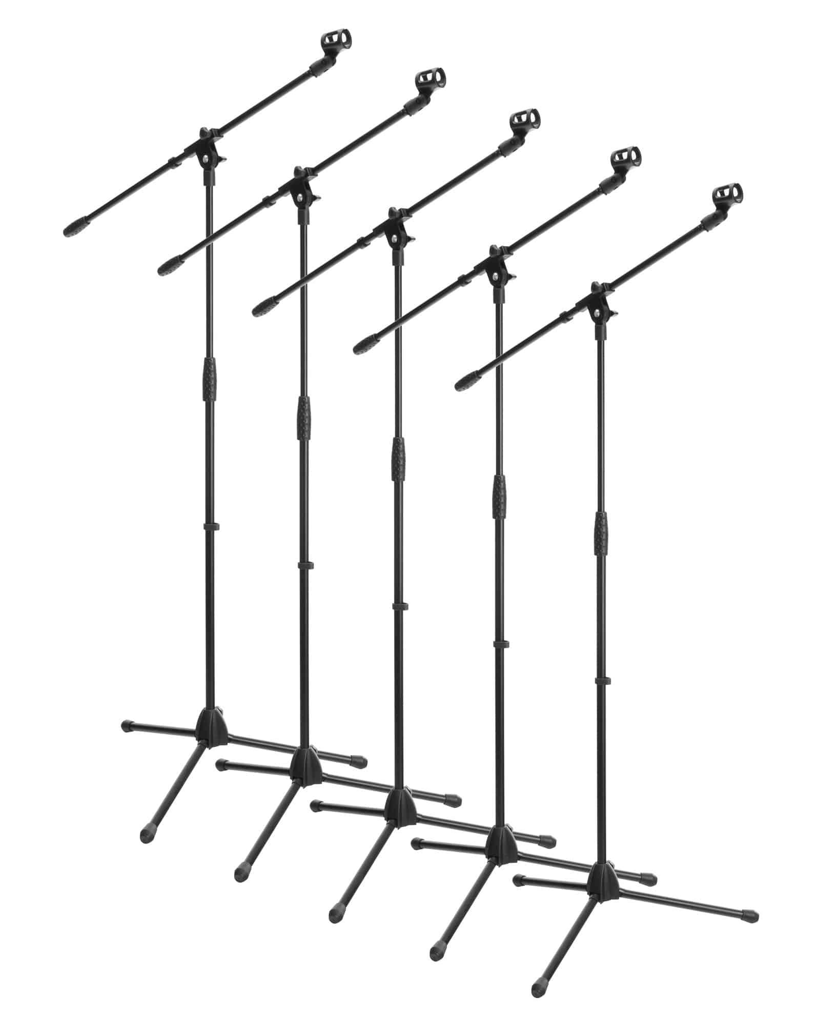 5x SET McGrey MBS 01 Mikrofonständer mit Galgen und Mikrofonklemme