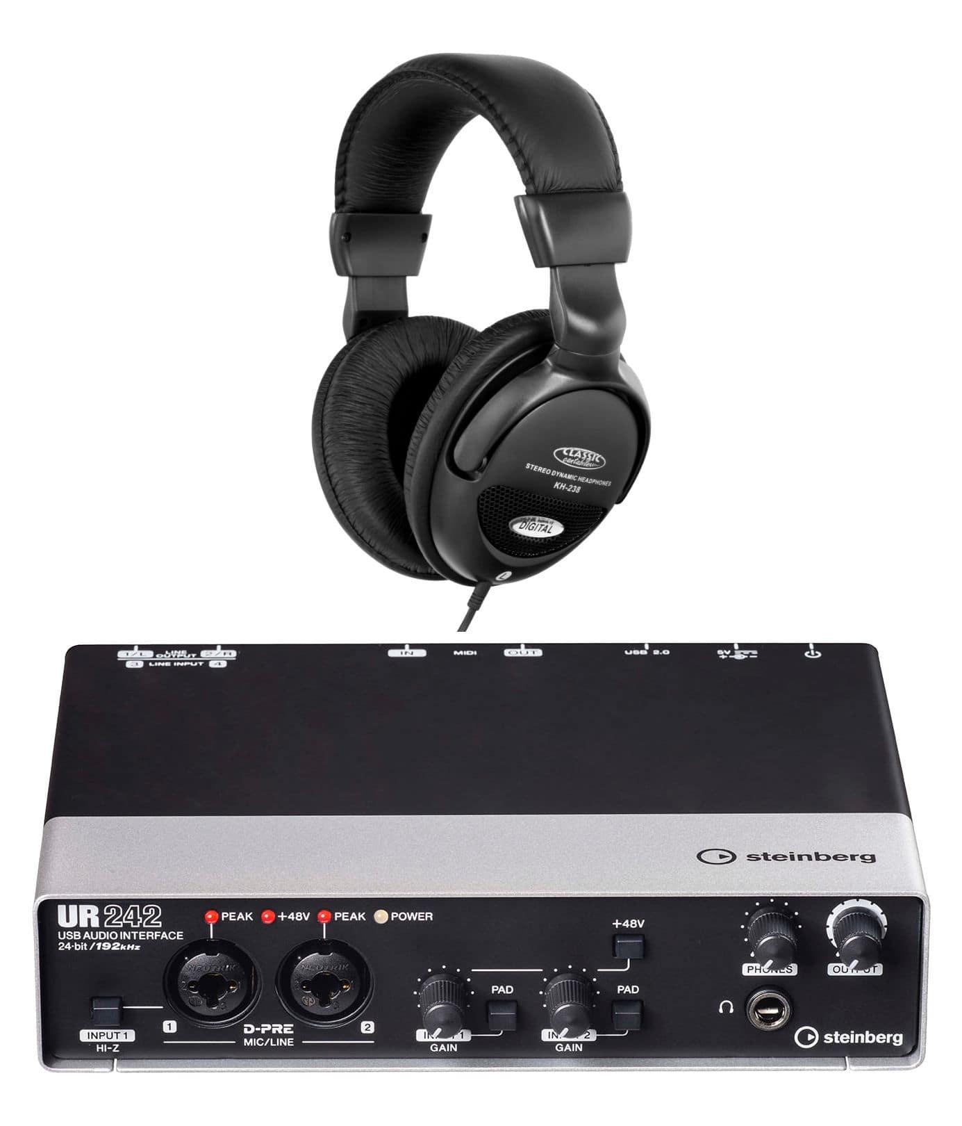 Pchardware - Steinberg UR242 USB Audio Interface Set - Onlineshop Musikhaus Kirstein