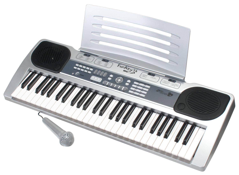 FunKey 54 MIC Keyboard mit Notenhalter und Mikrofon
