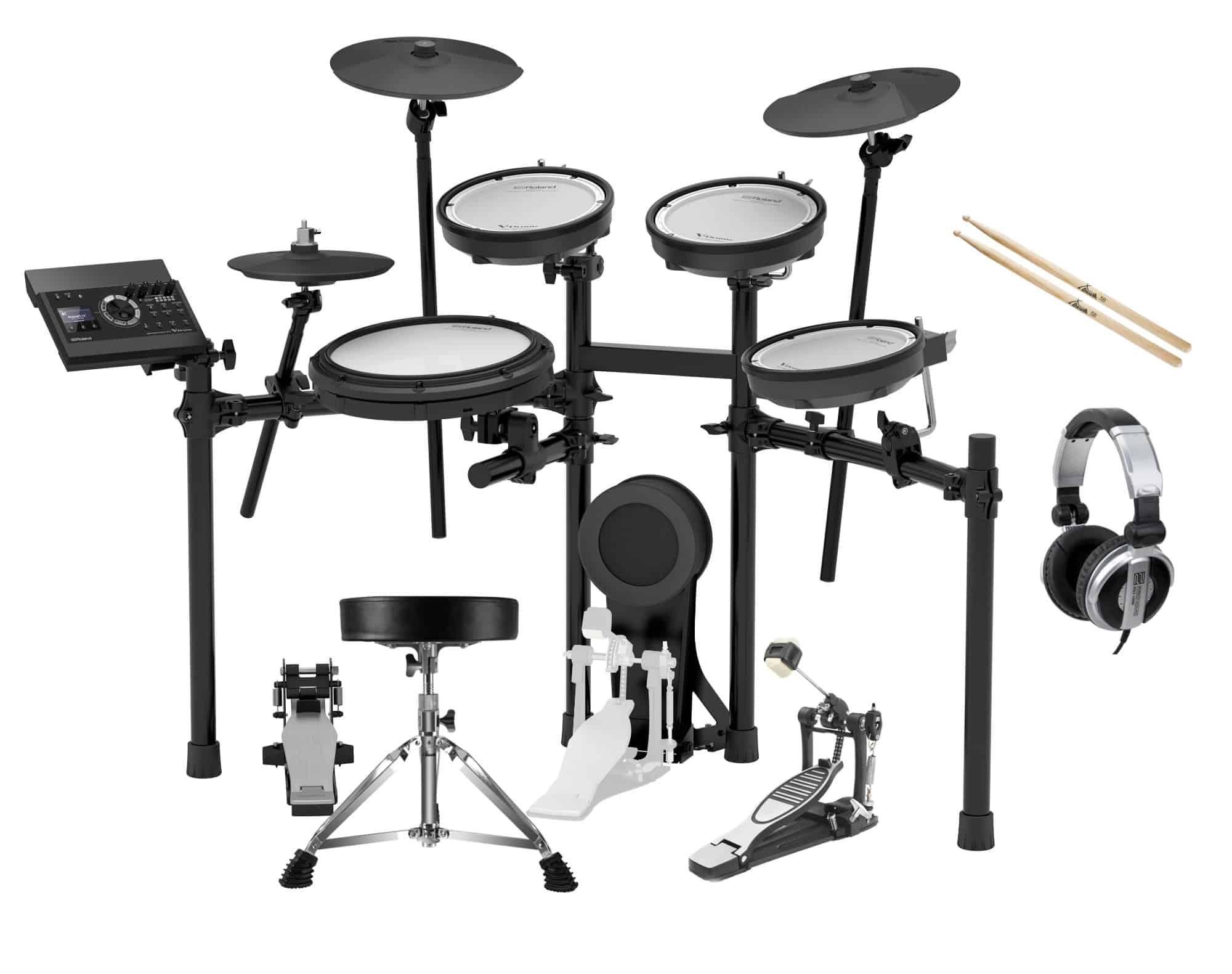 Roland TD 17KV V Drum Kit Set inkl. Hocker, Sticks, Fußmaschine Kopfhörer