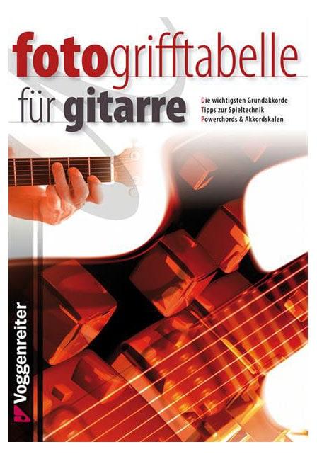 Gitarrelernen - Foto Grifftabelle für Gitarre - Onlineshop Musikhaus Kirstein