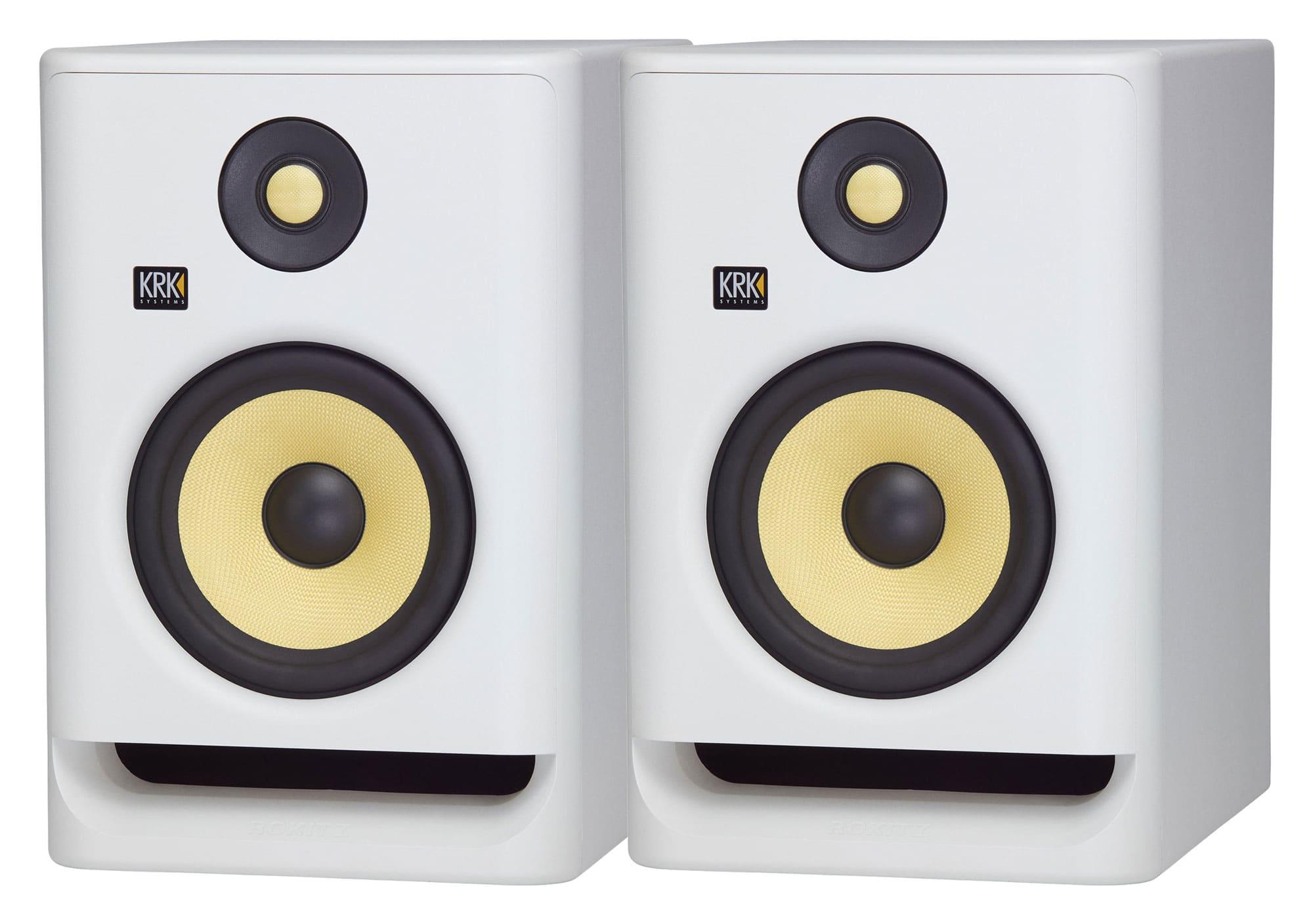 Studiomonitore - KRK ROKIT RP7 G4 White Noise 2er Set - Onlineshop Musikhaus Kirstein