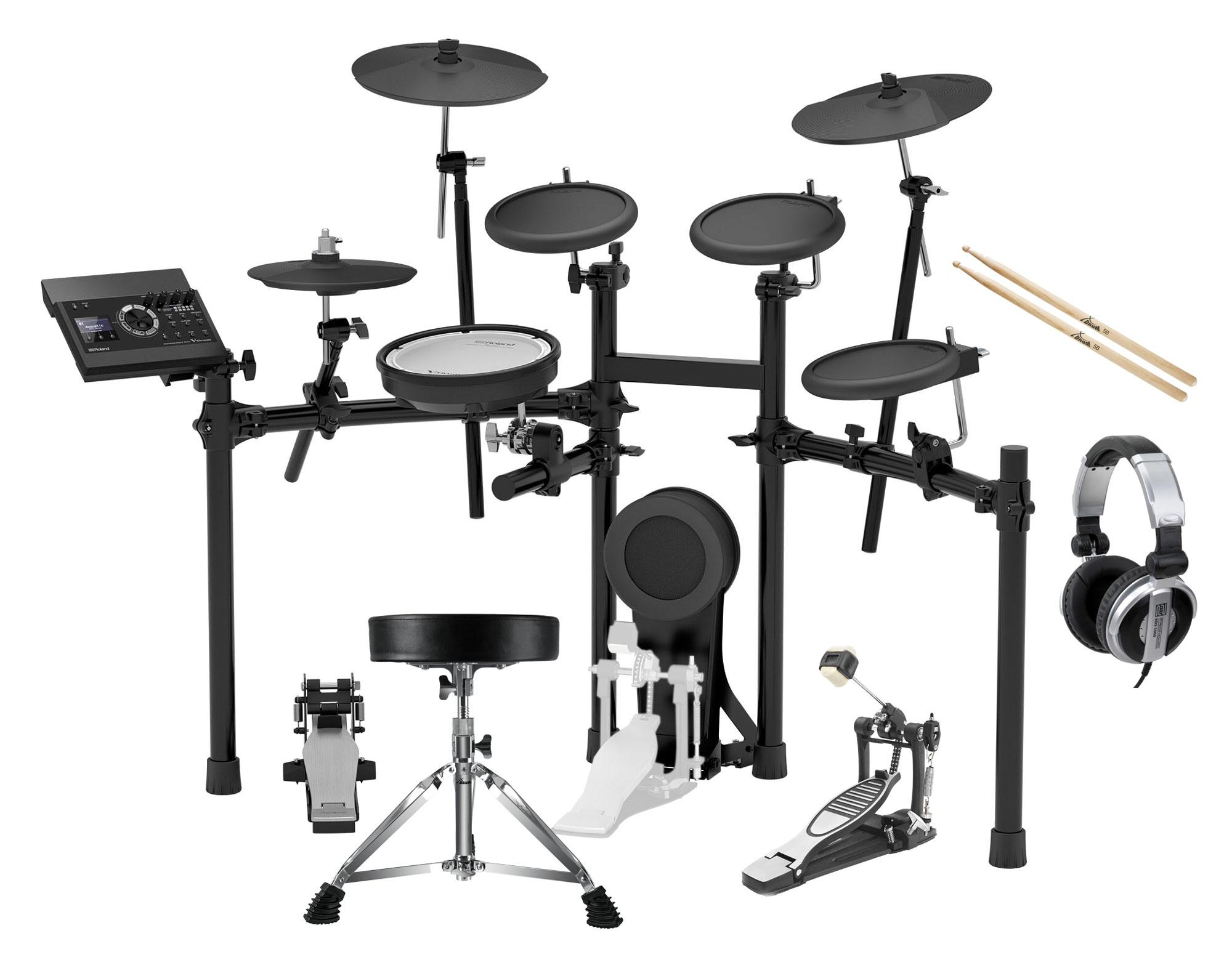 Roland TD 17K L V Drum Kit Set inkl. Hocker, Sticks, Fußmaschine Kopfhörer