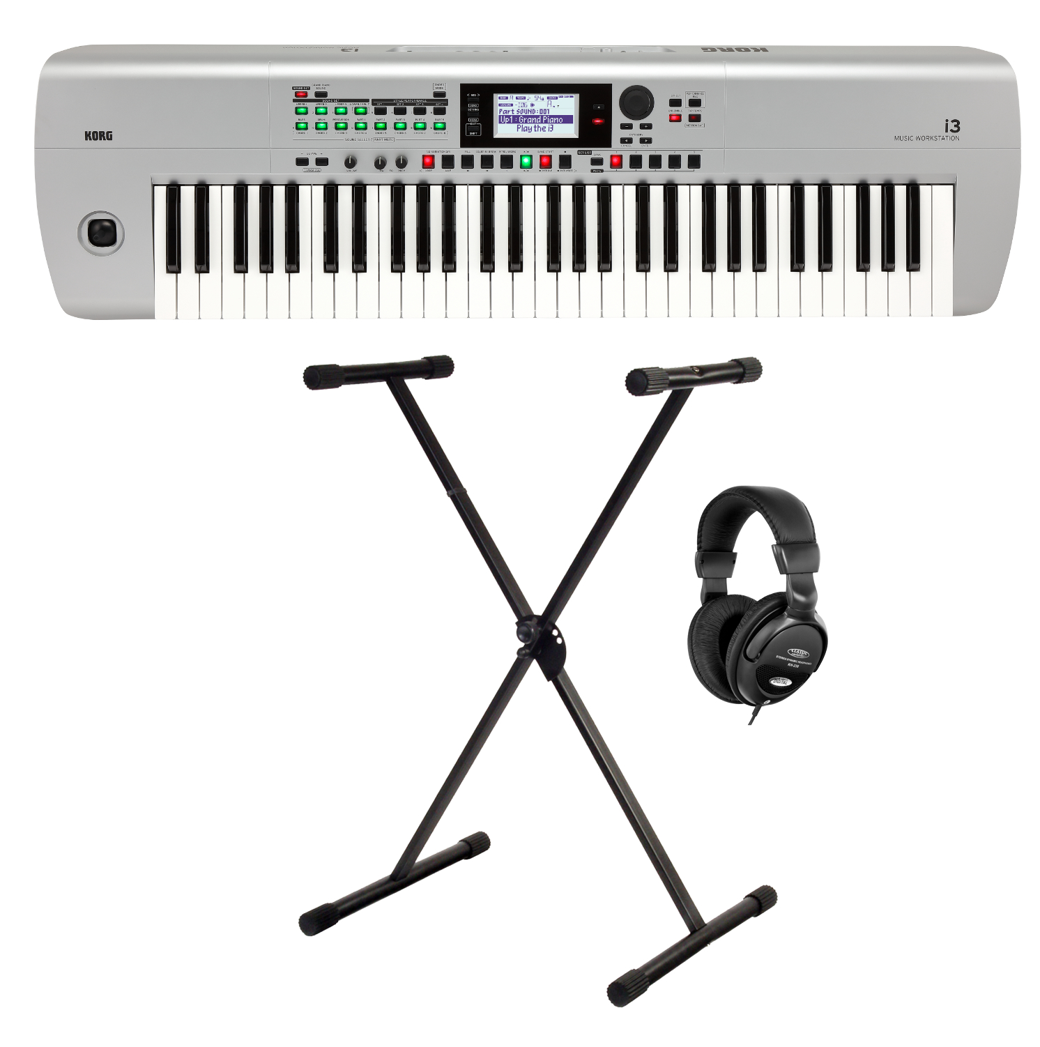 Homekeyboards - Korg i3 Music Workstation Set Silber - Onlineshop Musikhaus Kirstein