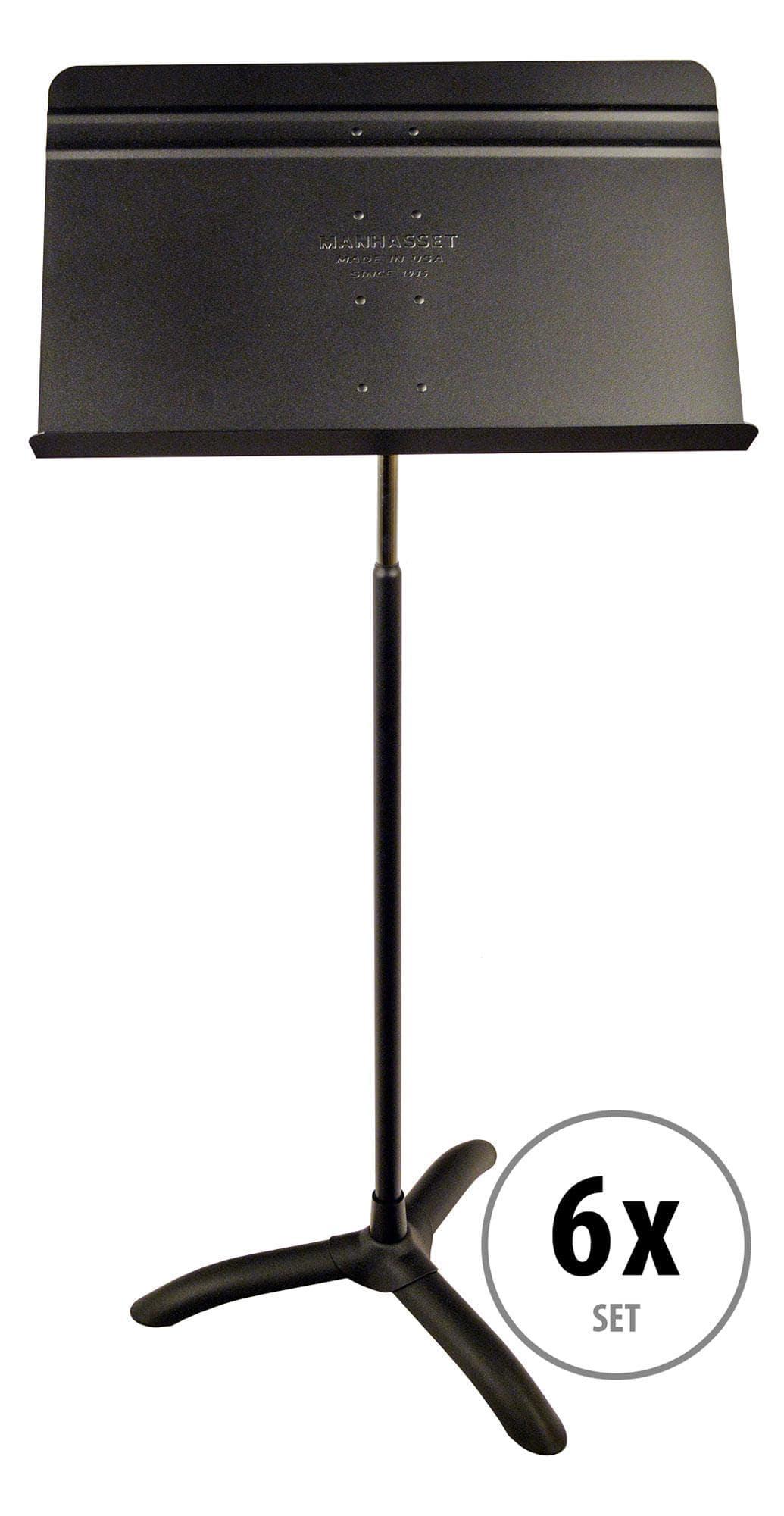 Musikerzubehoer - Manhasset Notenpult Model 48 Symphony Stand 6er Pack - Onlineshop Musikhaus Kirstein