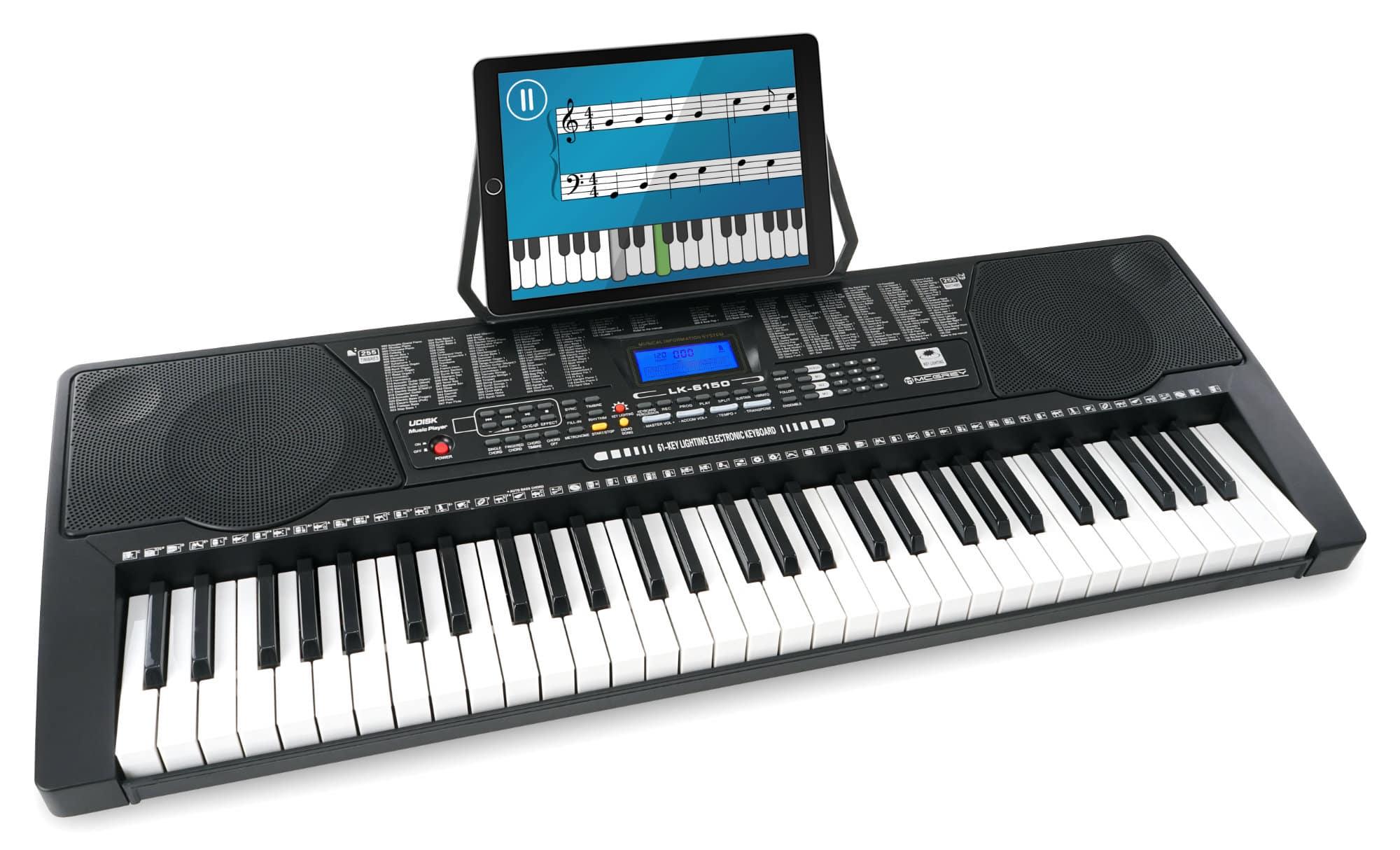 McGrey LK 6150 61 Tasten Keyboard mit Leuchttasten und MP3 Player