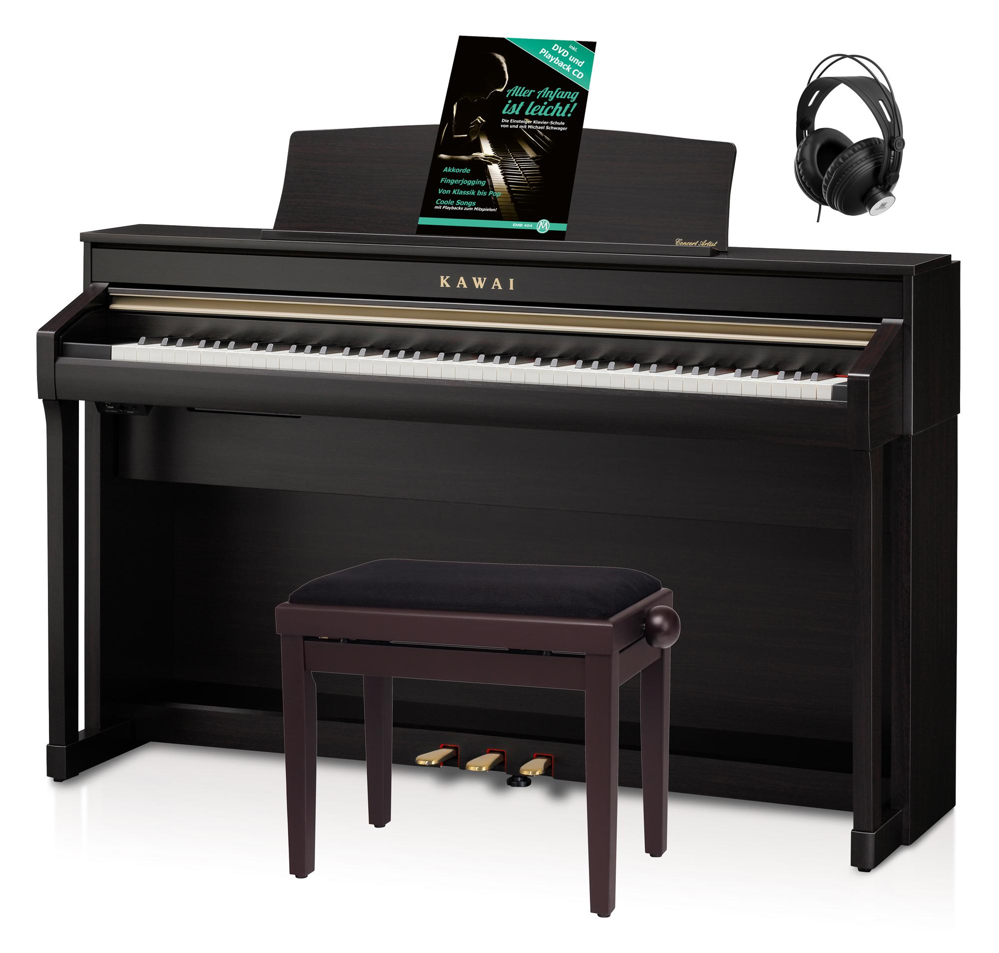 Kawai CA 78 R Digital Piano Rosenholz Set inkl. Pianobank, Kopfhörer Schule