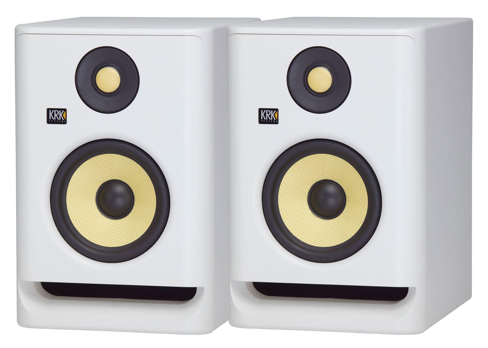 Studiomonitore - KRK ROKIT RP5 G4 White Noise 2er Set - Onlineshop Musikhaus Kirstein