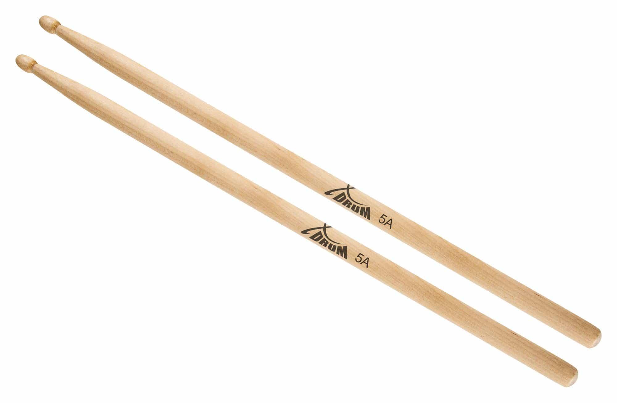 XDrum Schlagzeug Sticks 5A Wood Tip