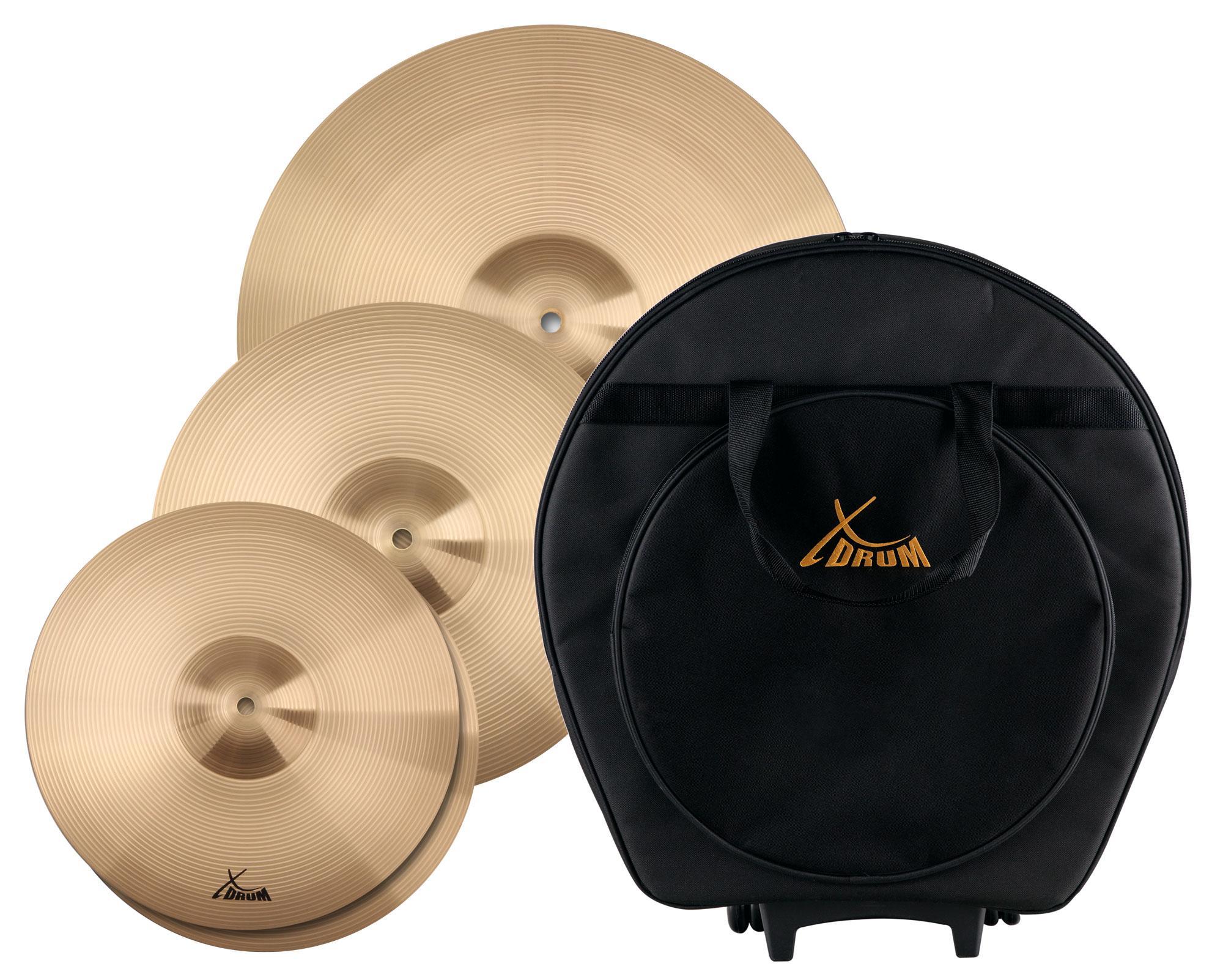 XDrum Eco Standard Beckensatz mit Beckentasche