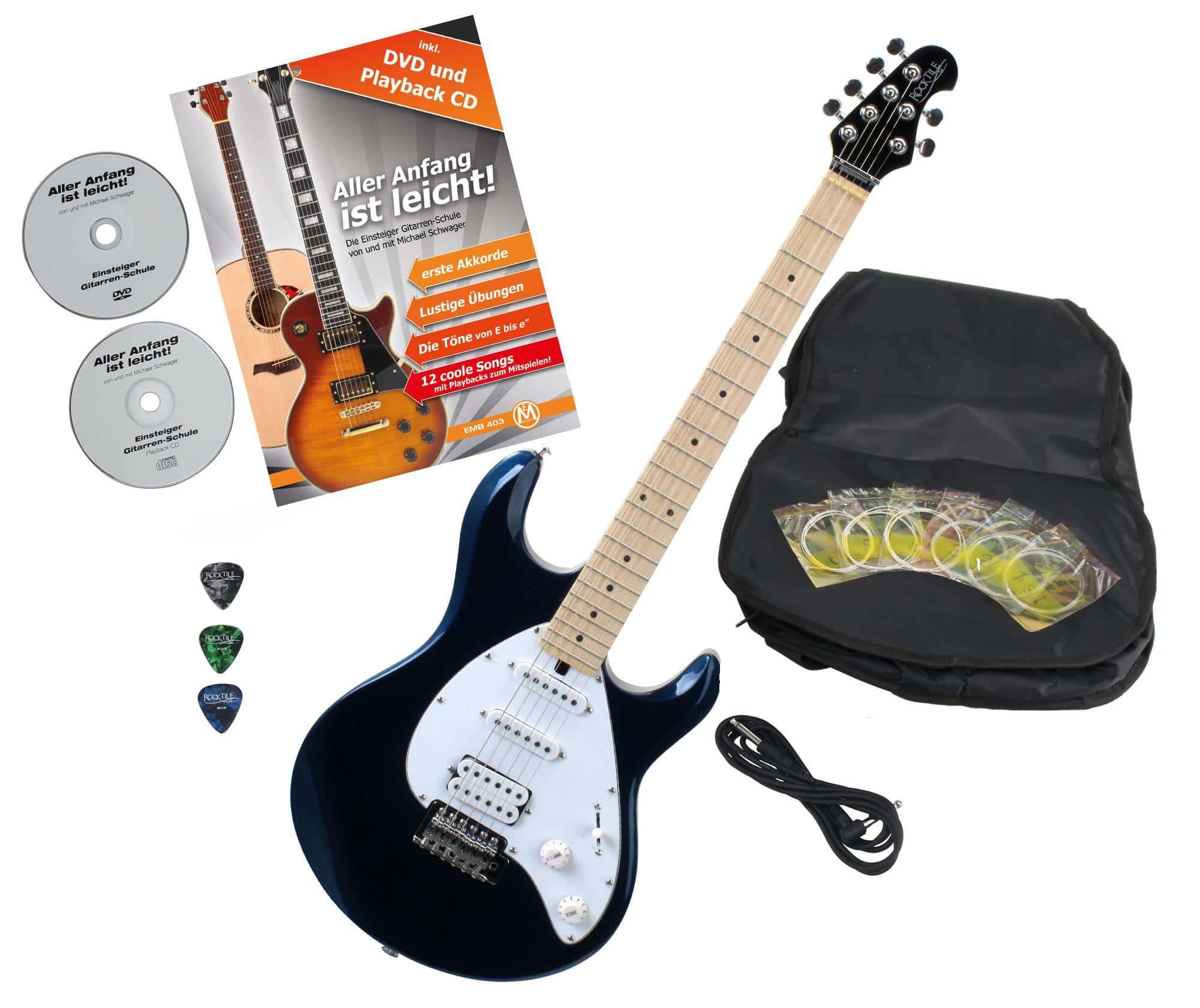 Rocktile Pro MM250 MB E Gitarre Metallic Blue mit Zubehör