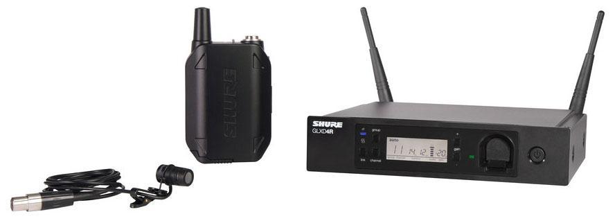 Shure GLXD14R|85 Digitales Funksystem mit WL185 Lavalier Mikrofon