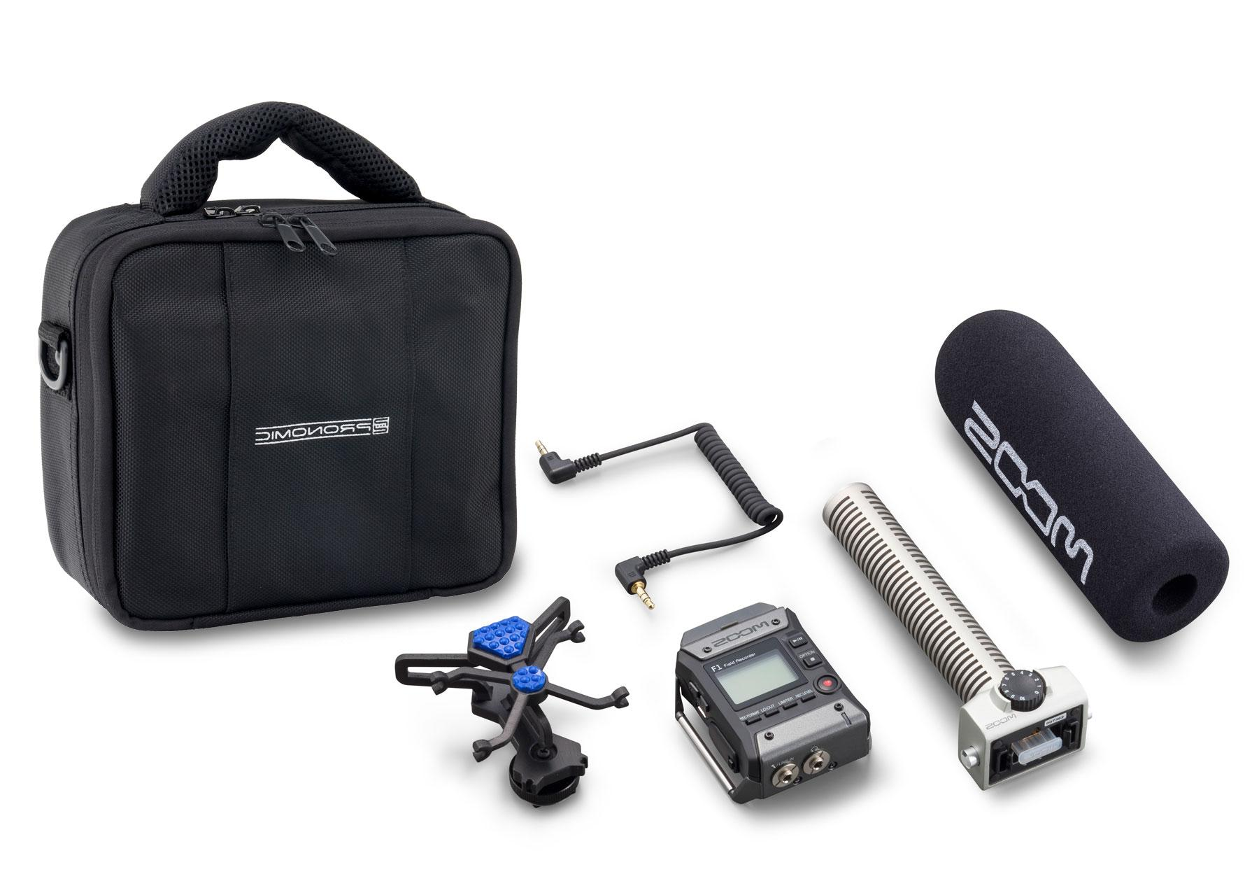 Zoom F1 SP Field Recorder mit Shotgun Mikrofon Set inkl. Tasche