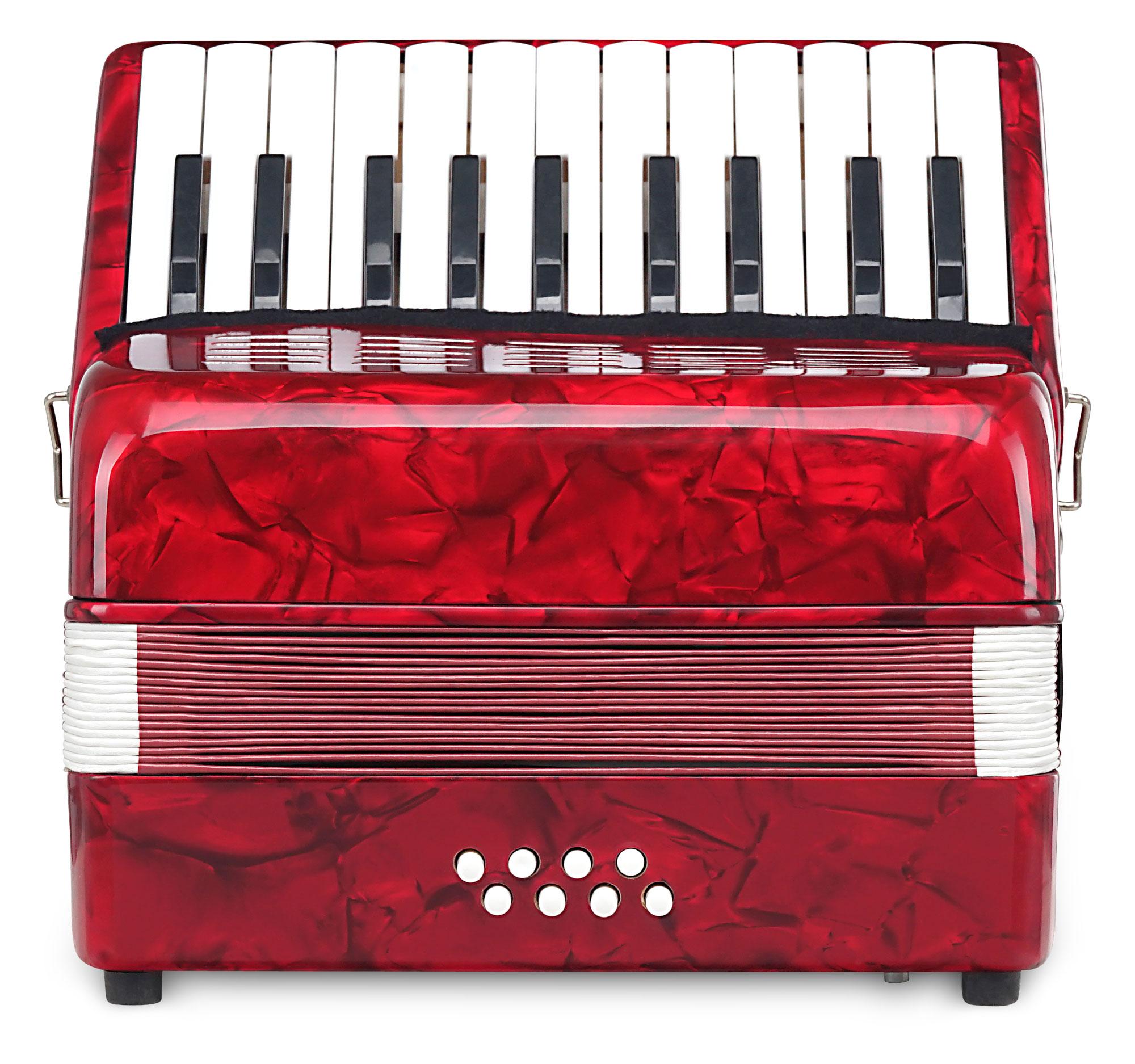 Akkordeons - Classic Cantabile Secondo Kinder Akkordeon 8 Bass rot Retoure (Zustand sehr gut) - Onlineshop Musikhaus Kirstein