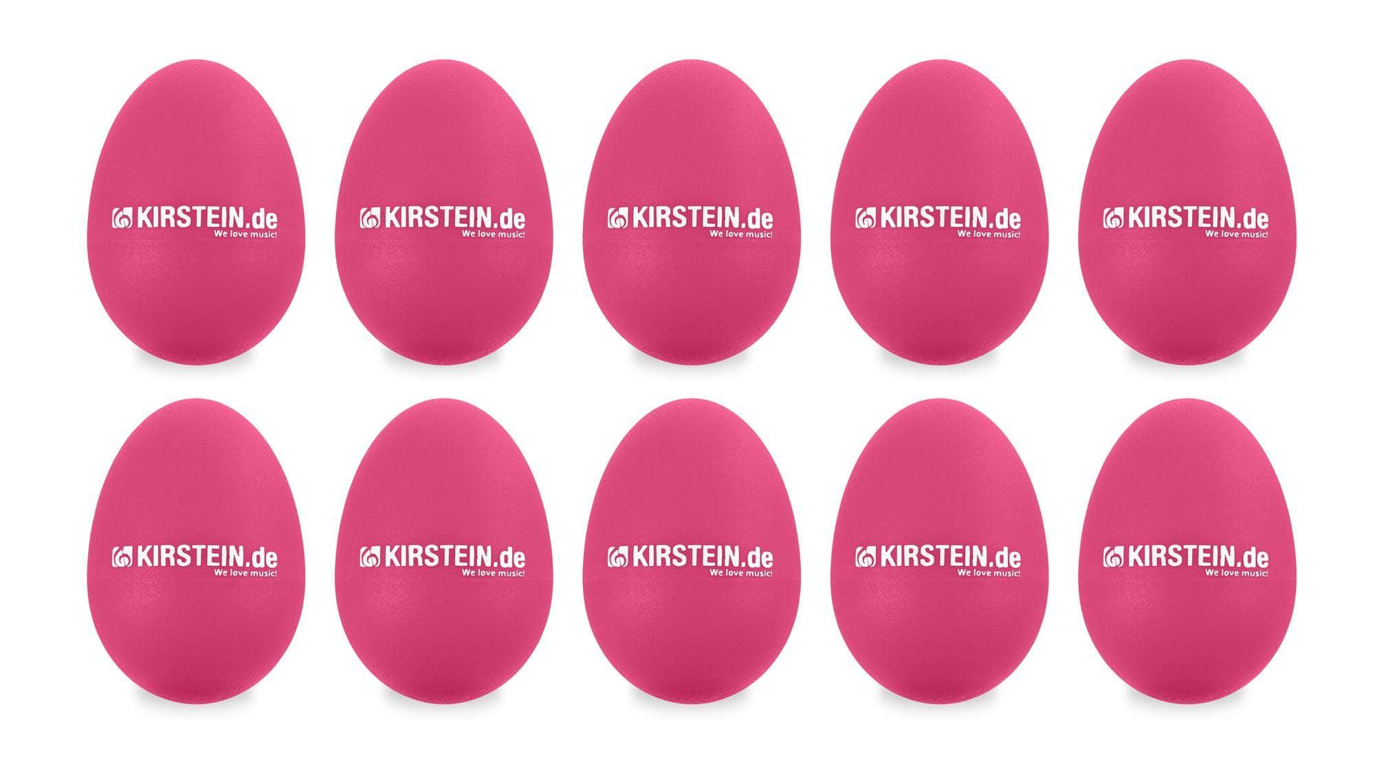 10x Kirstein ES 10P Egg Shaker pink Medium Light Set