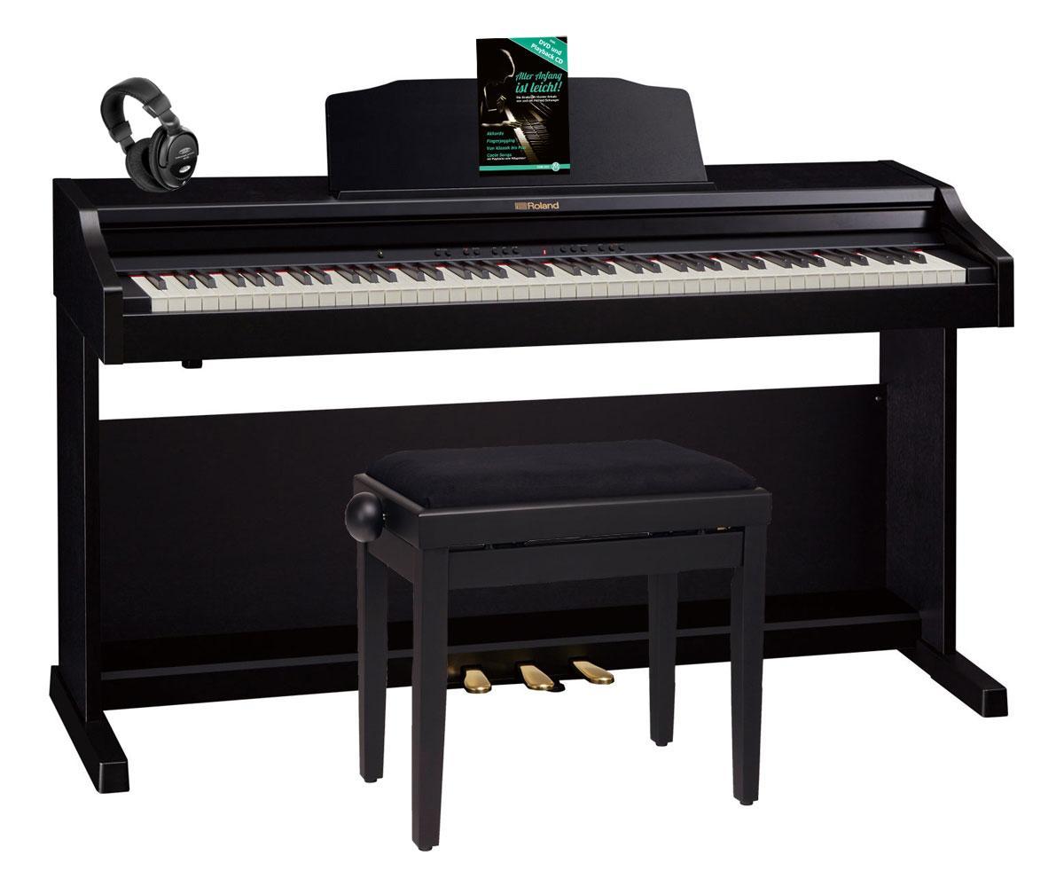 Roland RP501R CB Digitalpiano schwarz SET Bank, Kopfhörer, Noten