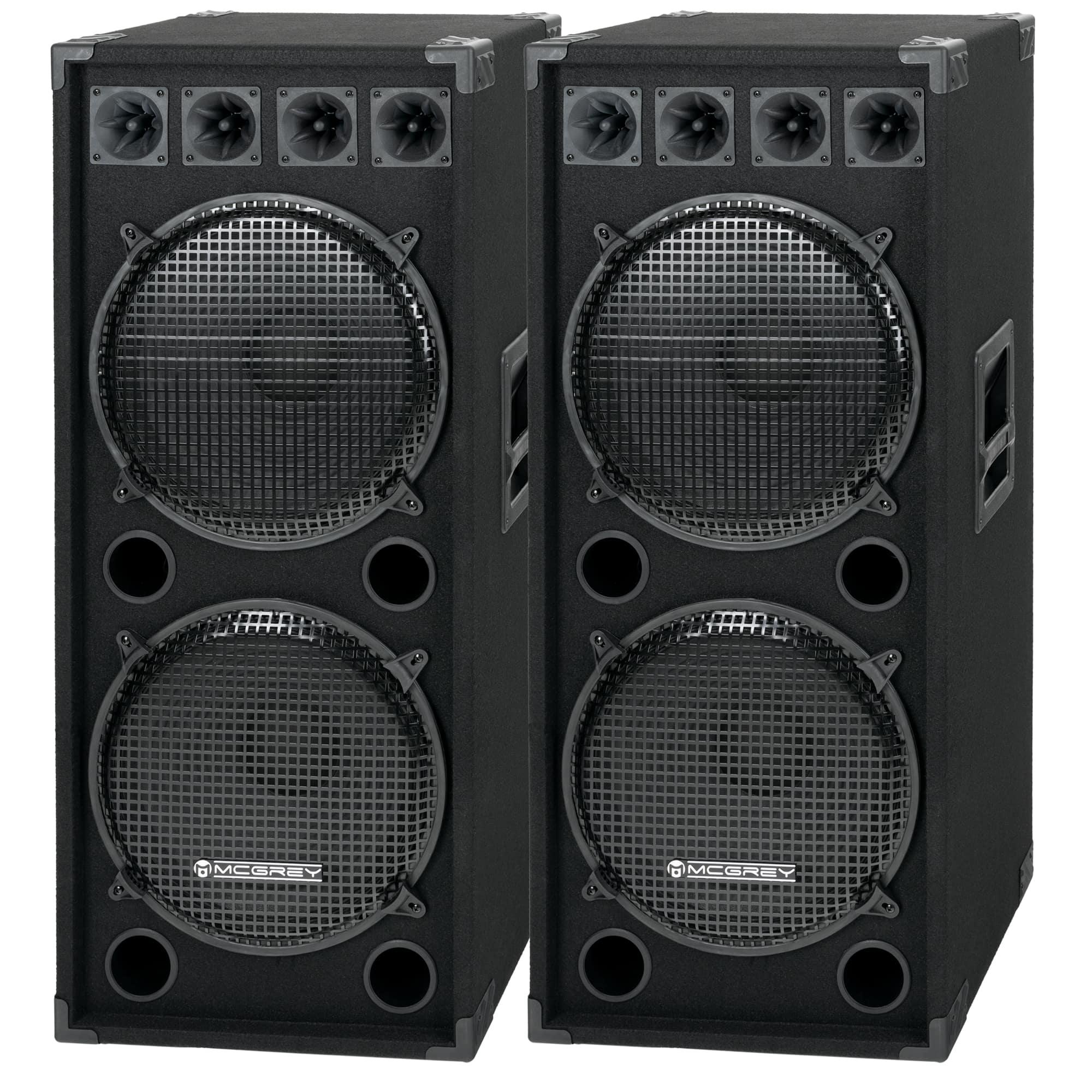 Paboxen - McGrey DJ 2522 Partykeller|DJ Box Paar 2 x 1500W - Onlineshop Musikhaus Kirstein