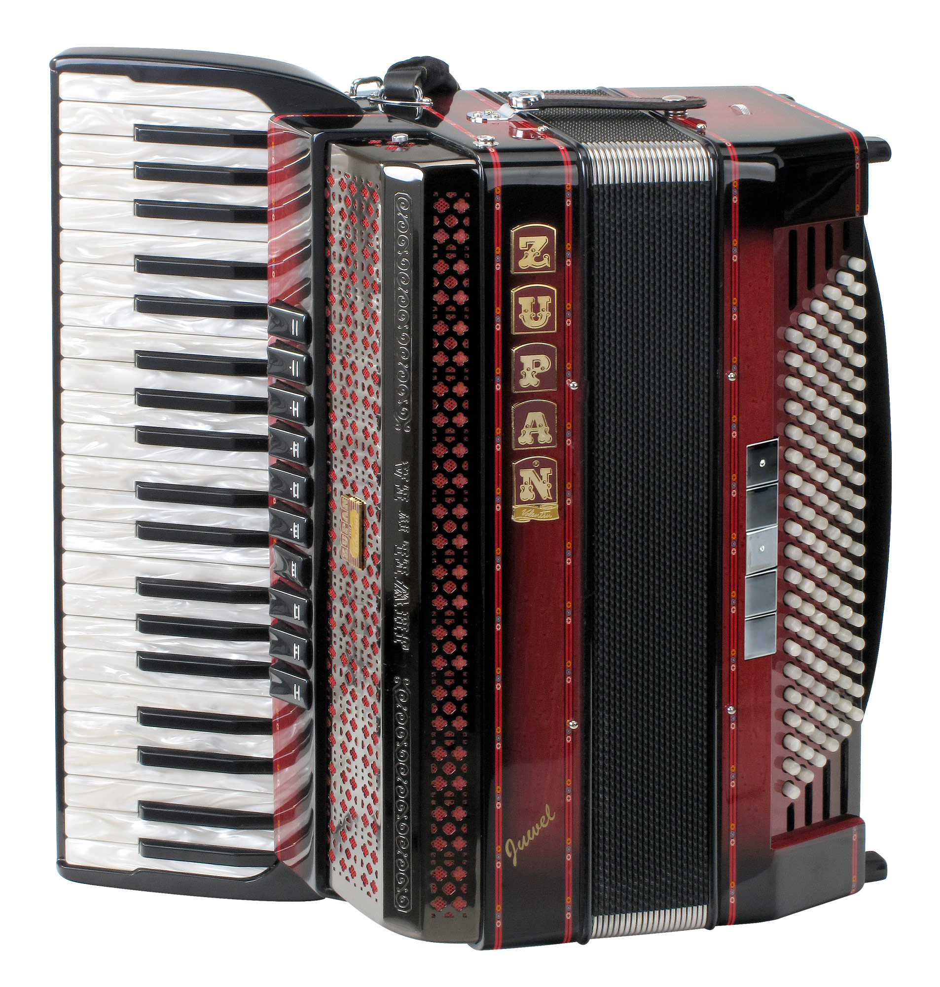 Akkordeons - Zupan Juwel IV 120 EA MHR Cassotto Akkordeon Shadow Red Retoure (Zustand wie neu) - Onlineshop Musikhaus Kirstein
