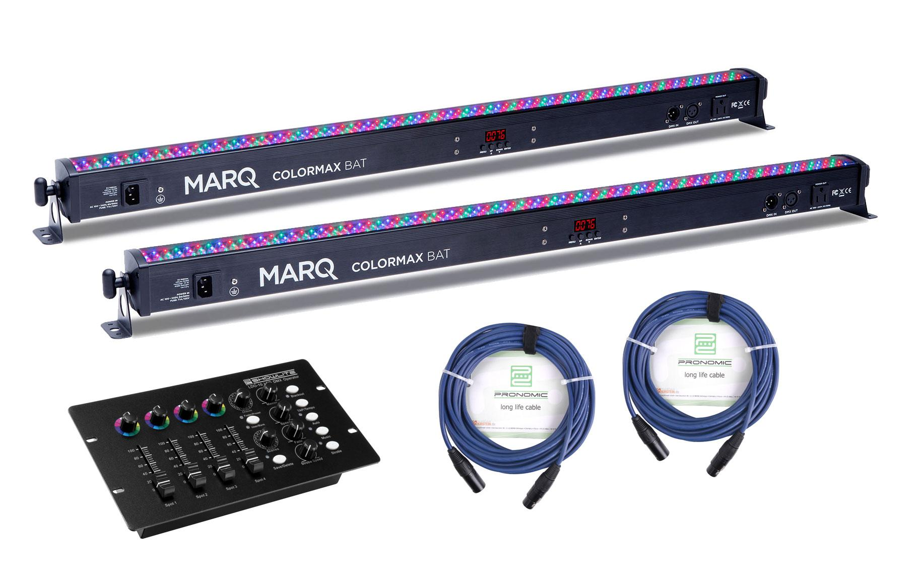 Marq Lighting ColorMax BAT SET inkl. Showlite LED Controller
