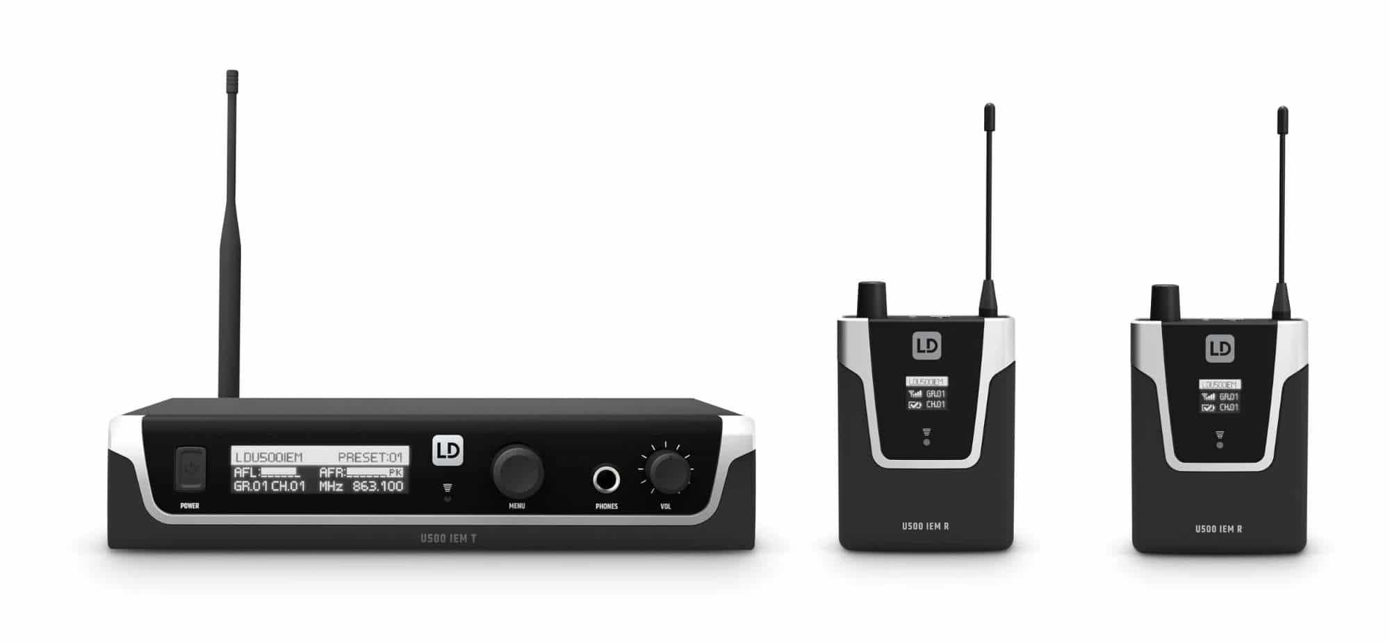 Drahtlossysteme - LD Systems U508 IEM In Ear Monitoring Doppel Set - Onlineshop Musikhaus Kirstein