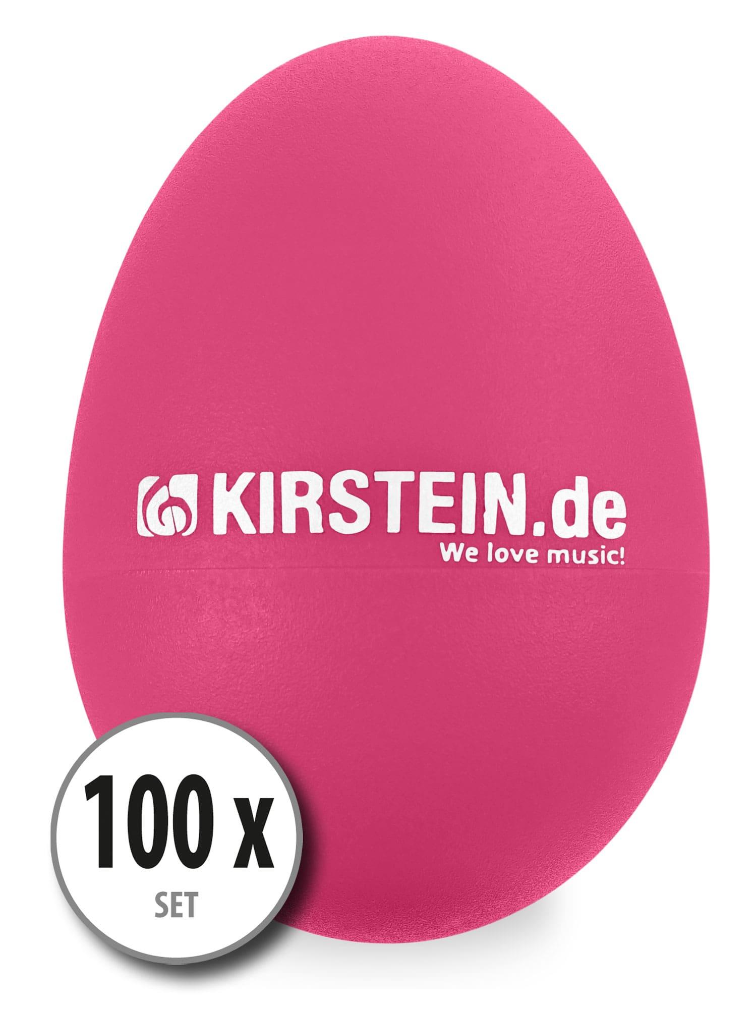 100x Kirstein ES 10P Egg Shaker pink Medium Light Set