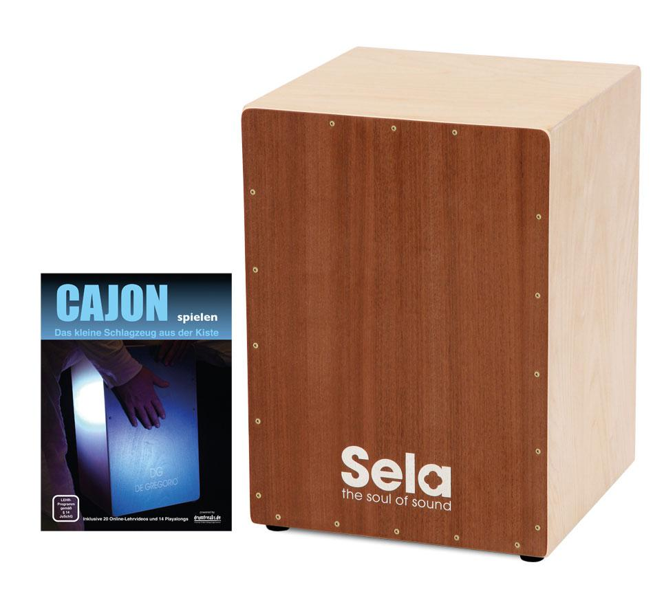 sela snare cajon medium bausatz set inkl cajonschule. Black Bedroom Furniture Sets. Home Design Ideas