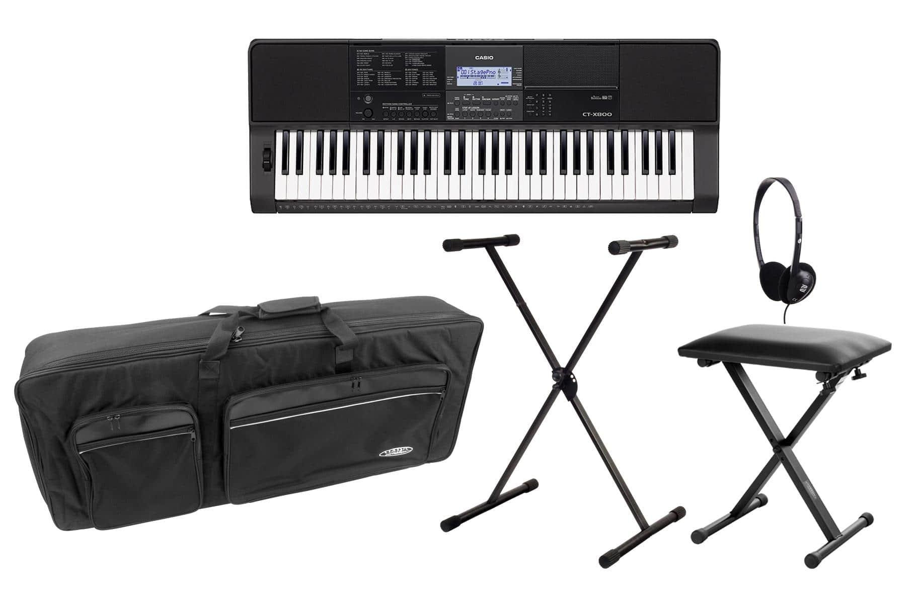 Homekeyboards - Casio CT X800 Midi Keyboard Deluxe Set inkl. Ständer, Kopfhörer, Bank Tasche - Onlineshop Musikhaus Kirstein