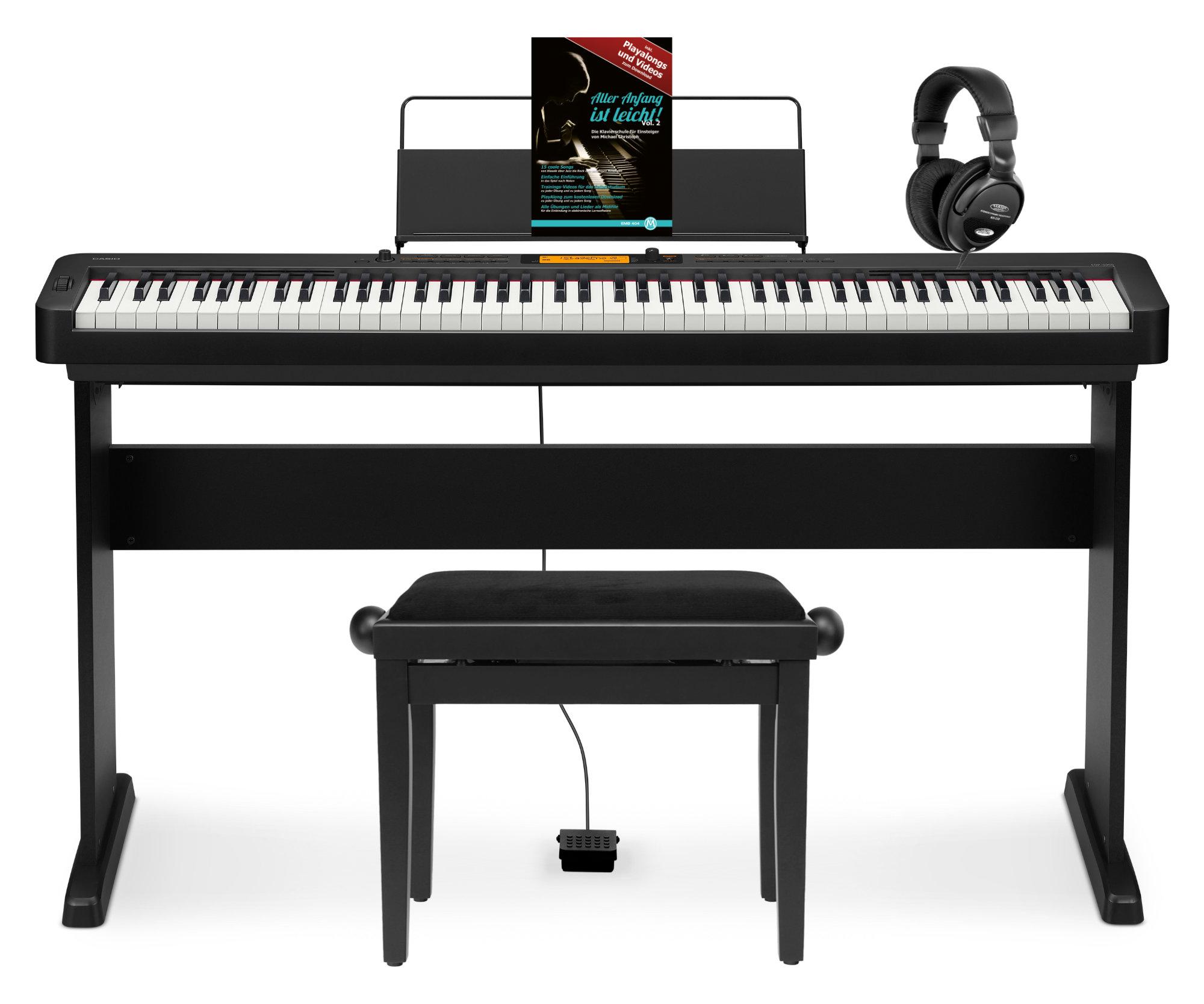 Casio CDP S350 BK Compact Piano Set