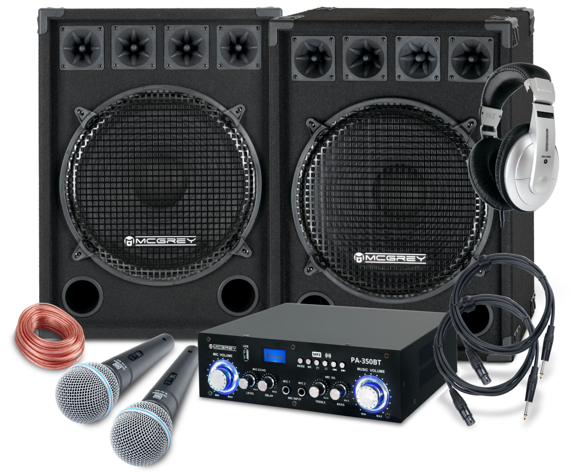 McGrey DJ Karaoke Komplettset Party 2500 1600W