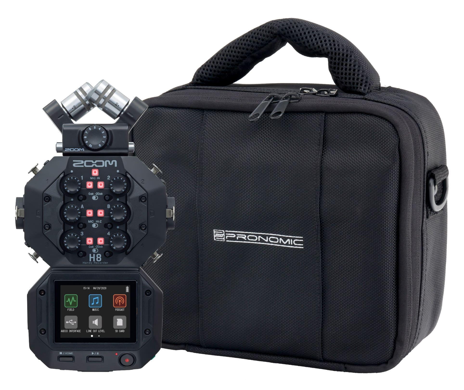 Recording - Zoom H8 Handy Audio Recorder Set inkl. Tasche - Onlineshop Musikhaus Kirstein