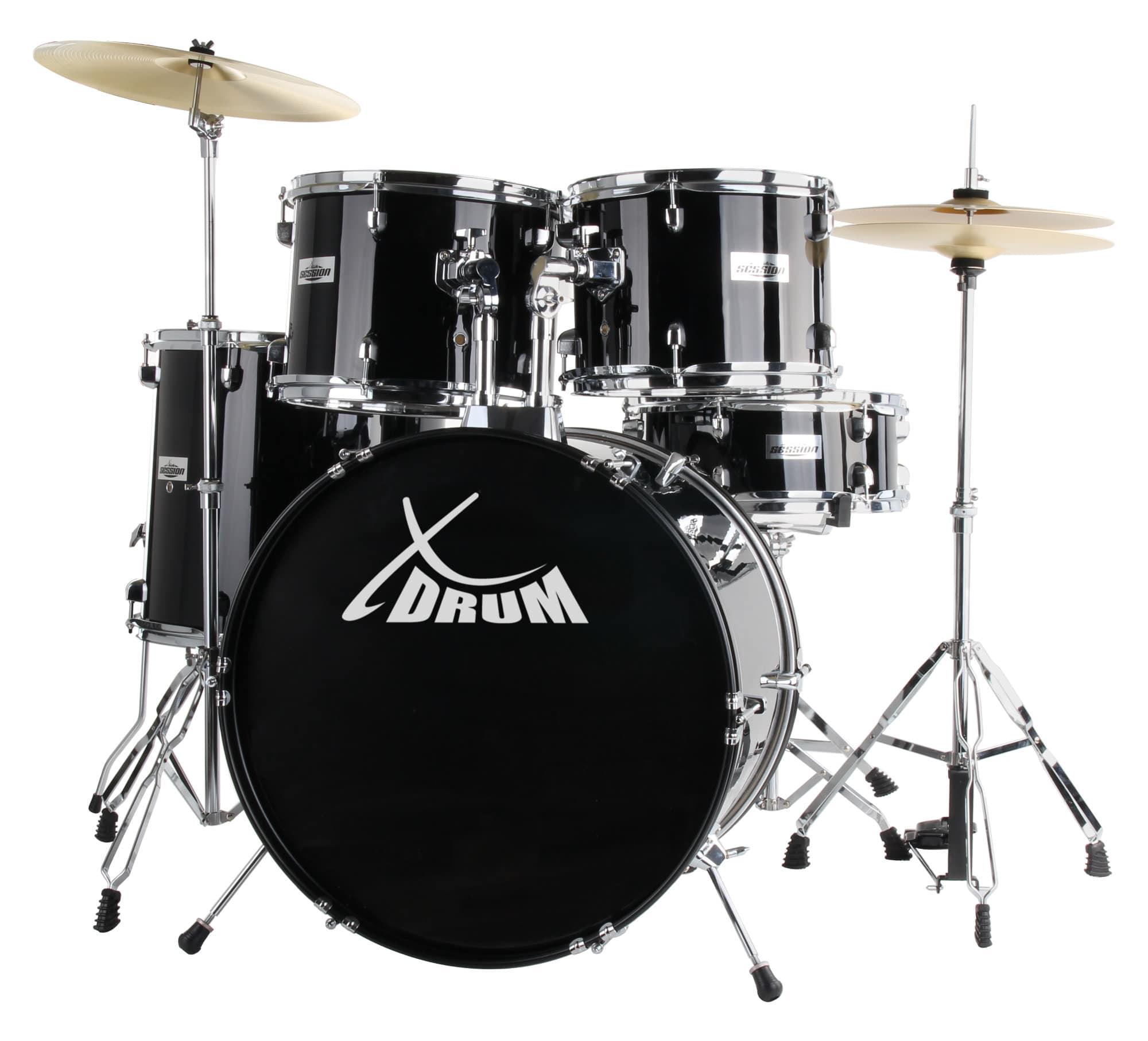 XDrum Semi 20' Studio Schlagzeug Komplettset Schwarz inkl. Schule DVD