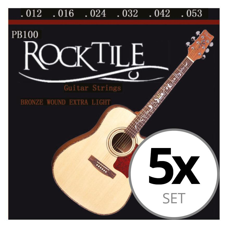Rocktile Westerngitarrensaiten 5er Pack