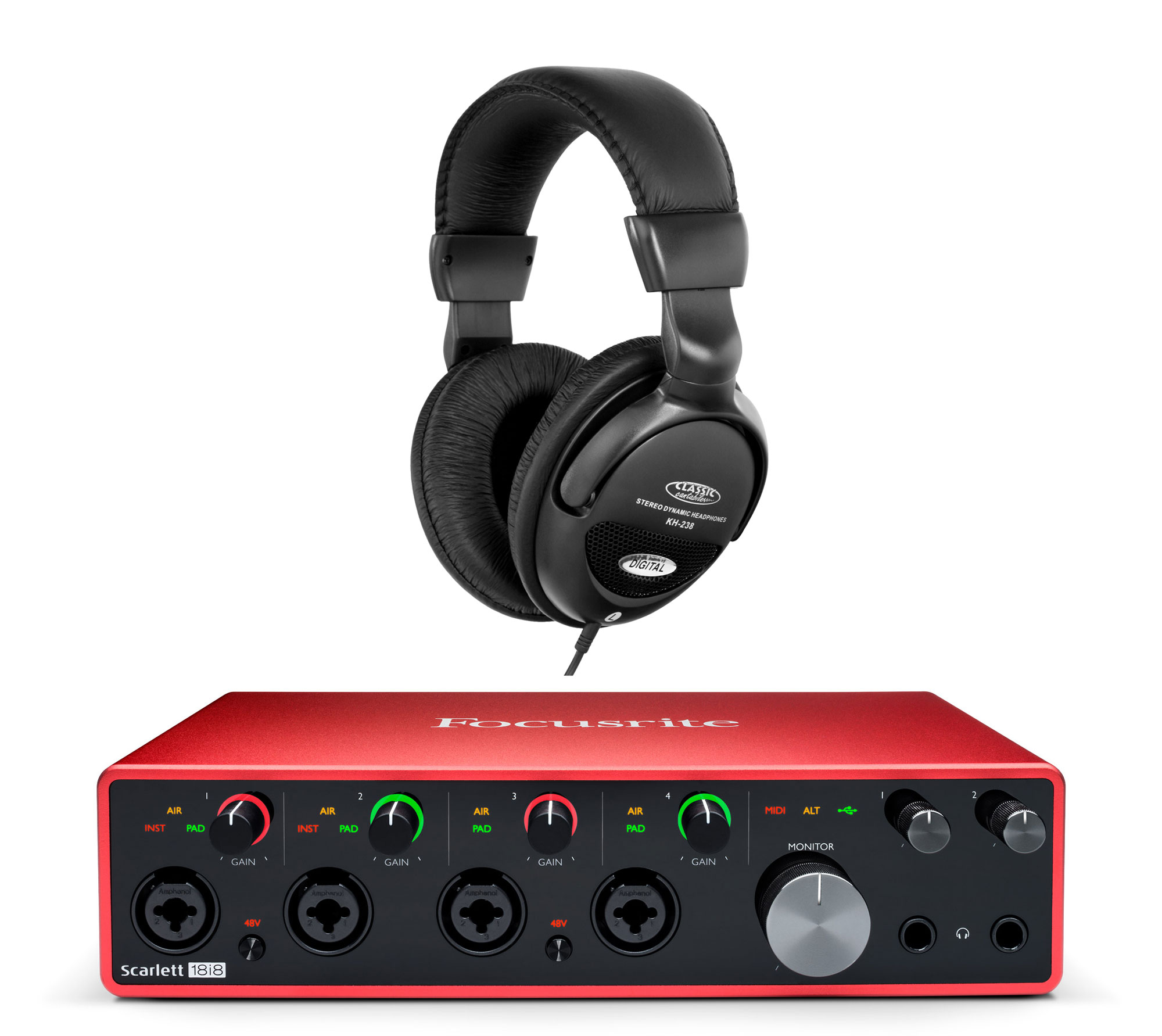 Pchardware - Focusrite Scarlett 18i8 USB Audio Interface Set - Onlineshop Musikhaus Kirstein