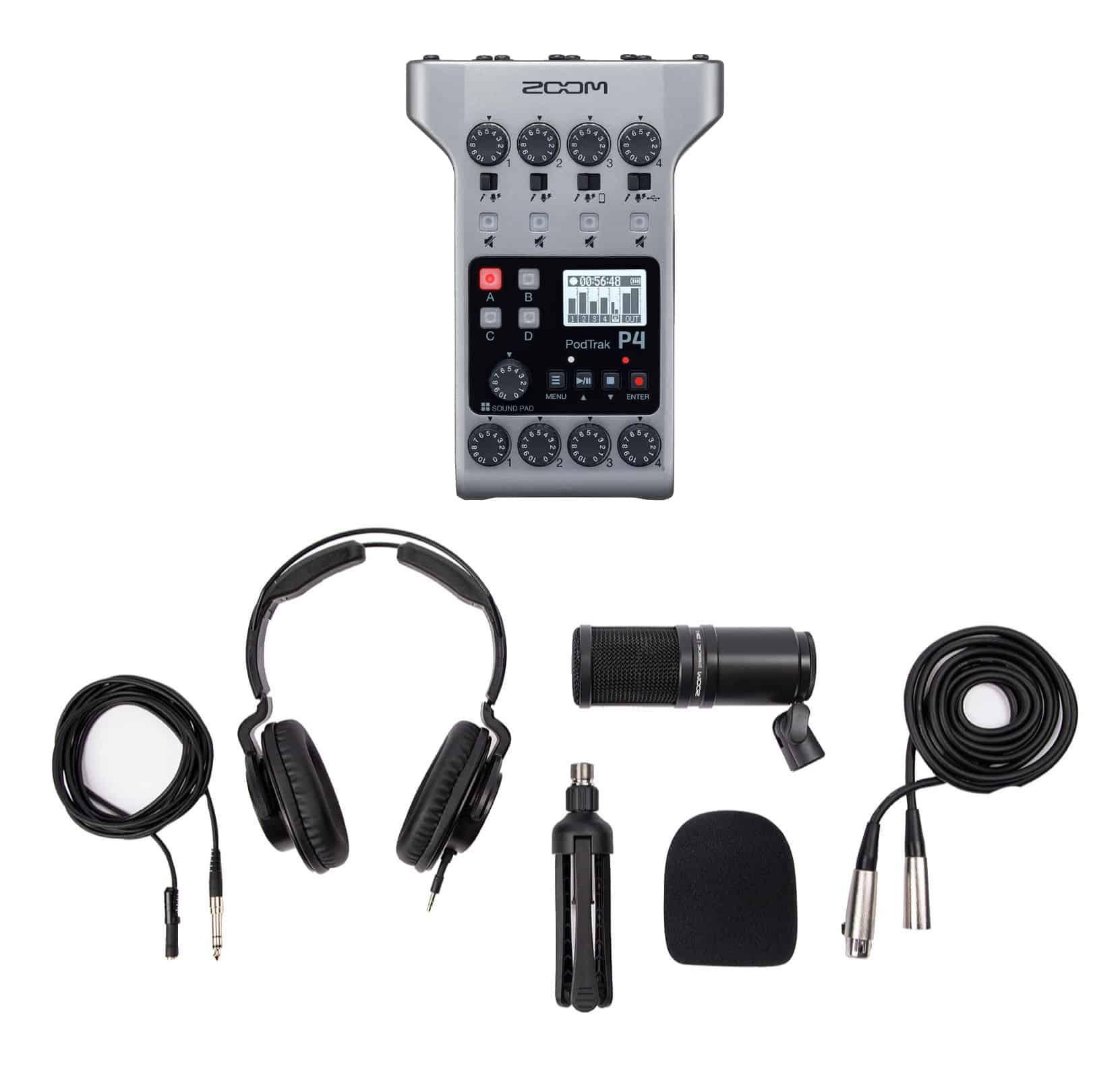 Recording - Zoom PodTrak P4 Podcasting Recoder Set inkl. ZDM 1 Mic Pack - Onlineshop Musikhaus Kirstein