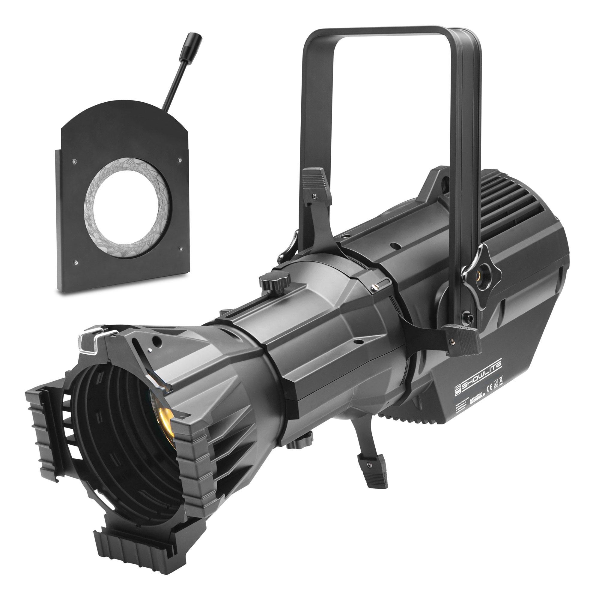 Showlite CPR 60|26 RGBW COB LED Profilscheinwerfer 26° 180 Watt SET mit Iris