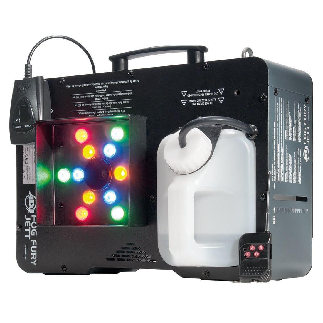 Nebeleffekte - ADJ Fog Fury Jett RGBA LED Vertikal Nebelmaschine - Onlineshop Musikhaus Kirstein