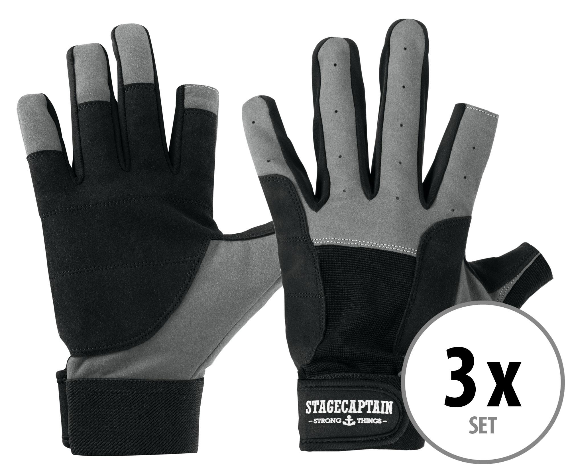 3er Set Stagecaptain Rigger Handschuhe M kurz
